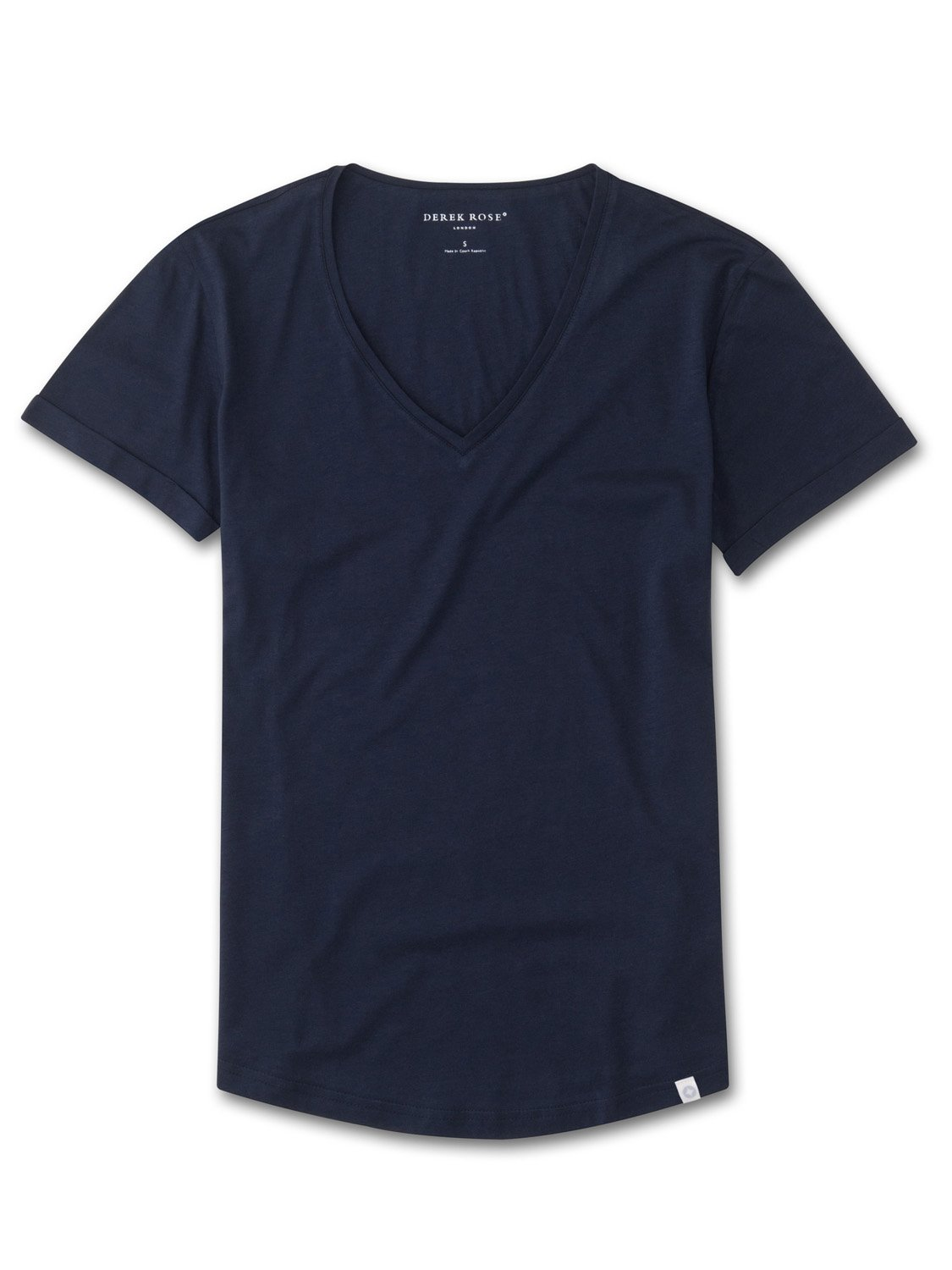 Women's V-Neck Leisure T-Shirt Riley Pima Cotton Navy