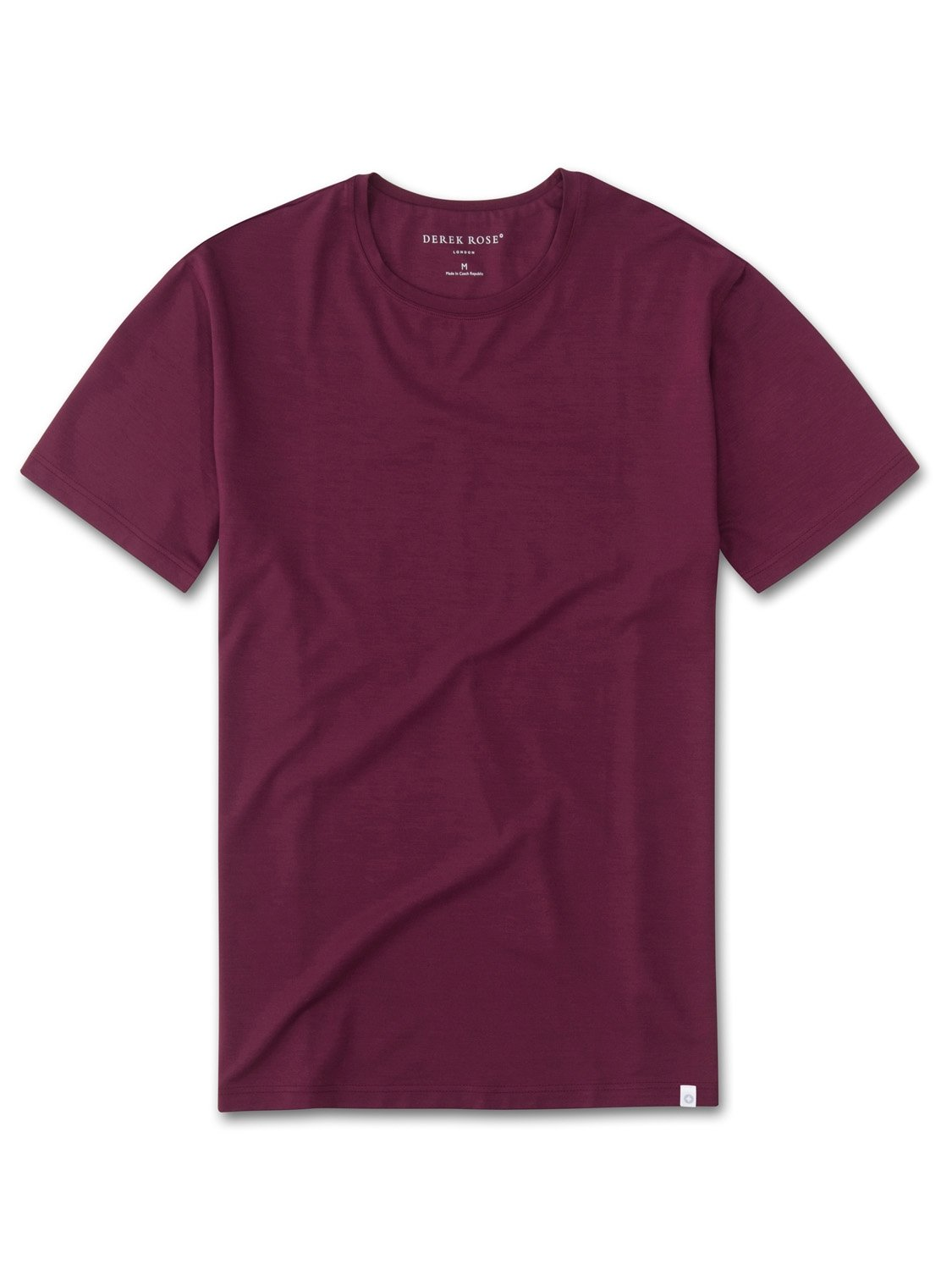 Men's Short Sleeve T-Shirt Basel 5 Micro Modal Stretch Burgundy