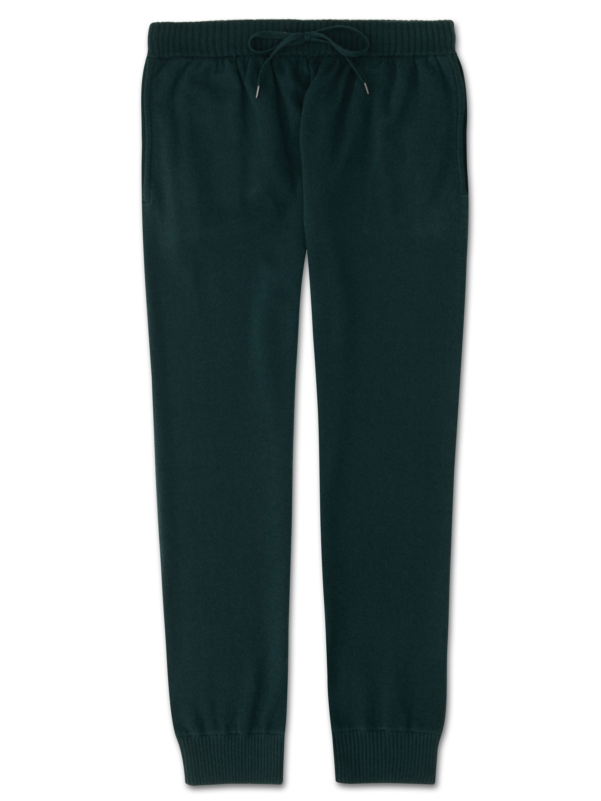 Men's Cashmere Track Pants Finley Pure Cashmere Green
