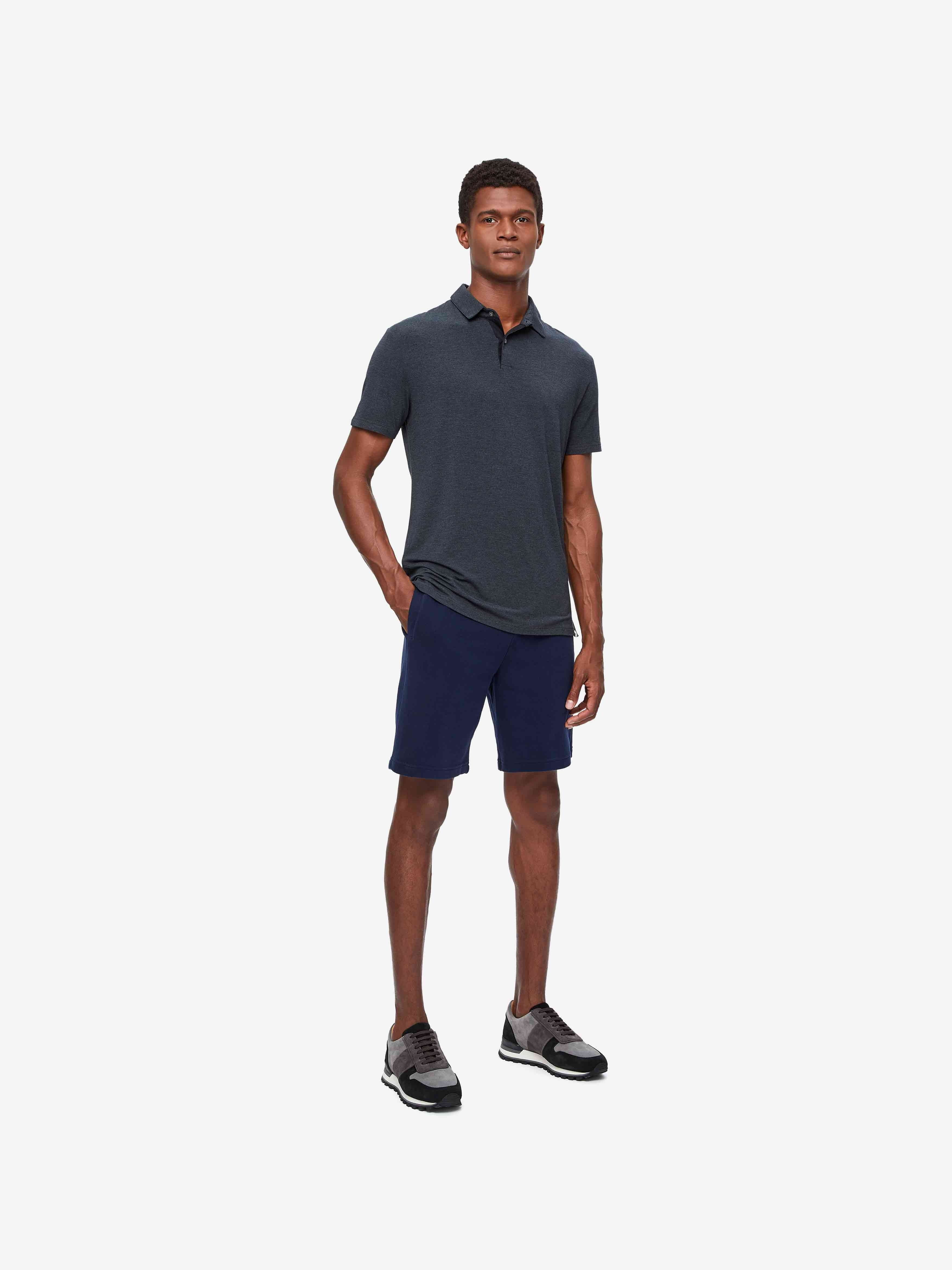Men's Polo Shirt Marlowe Micro Modal Stretch Anthracite