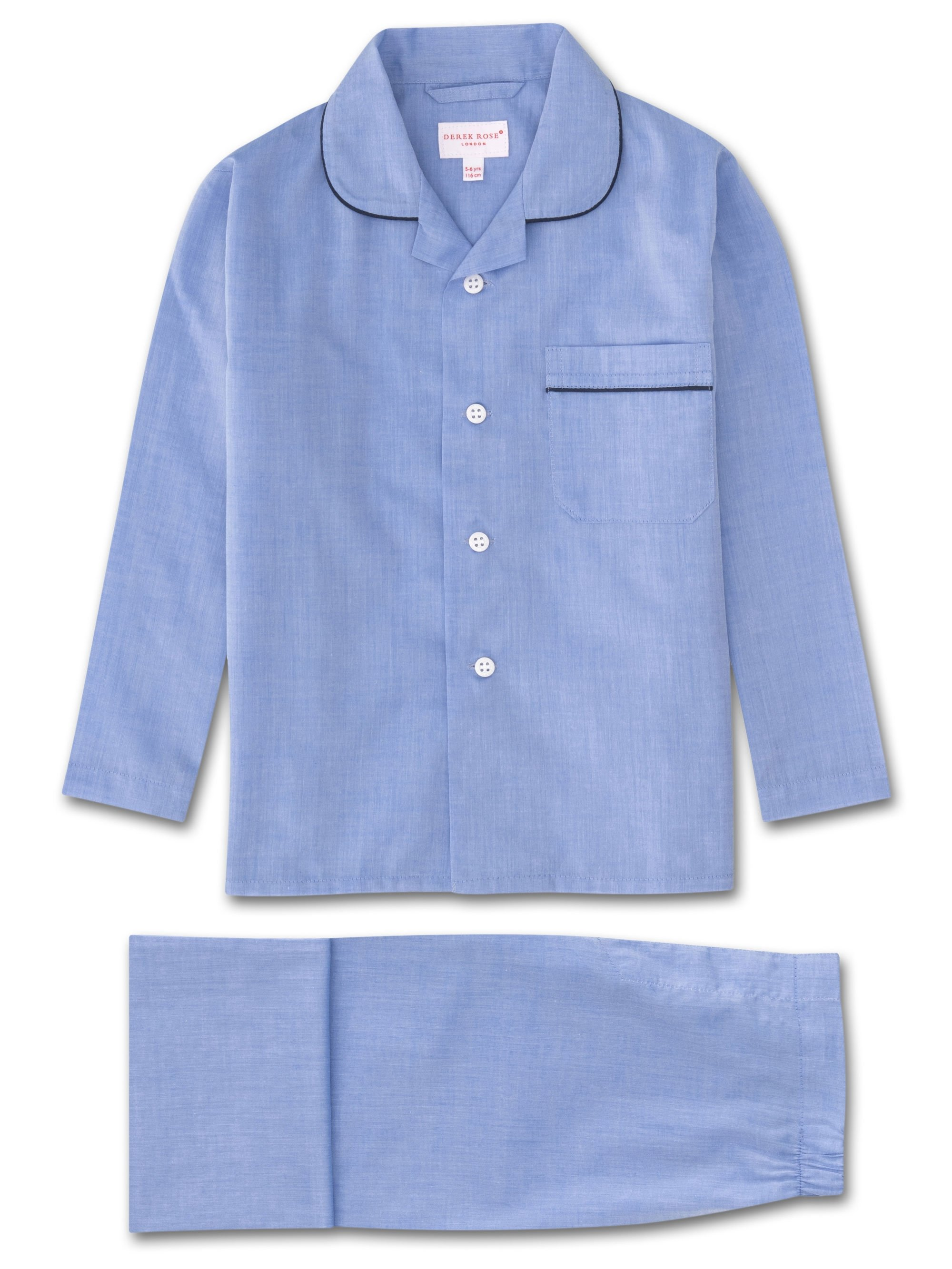Kids' Pyjamas Amalfi Cotton Batiste Blue