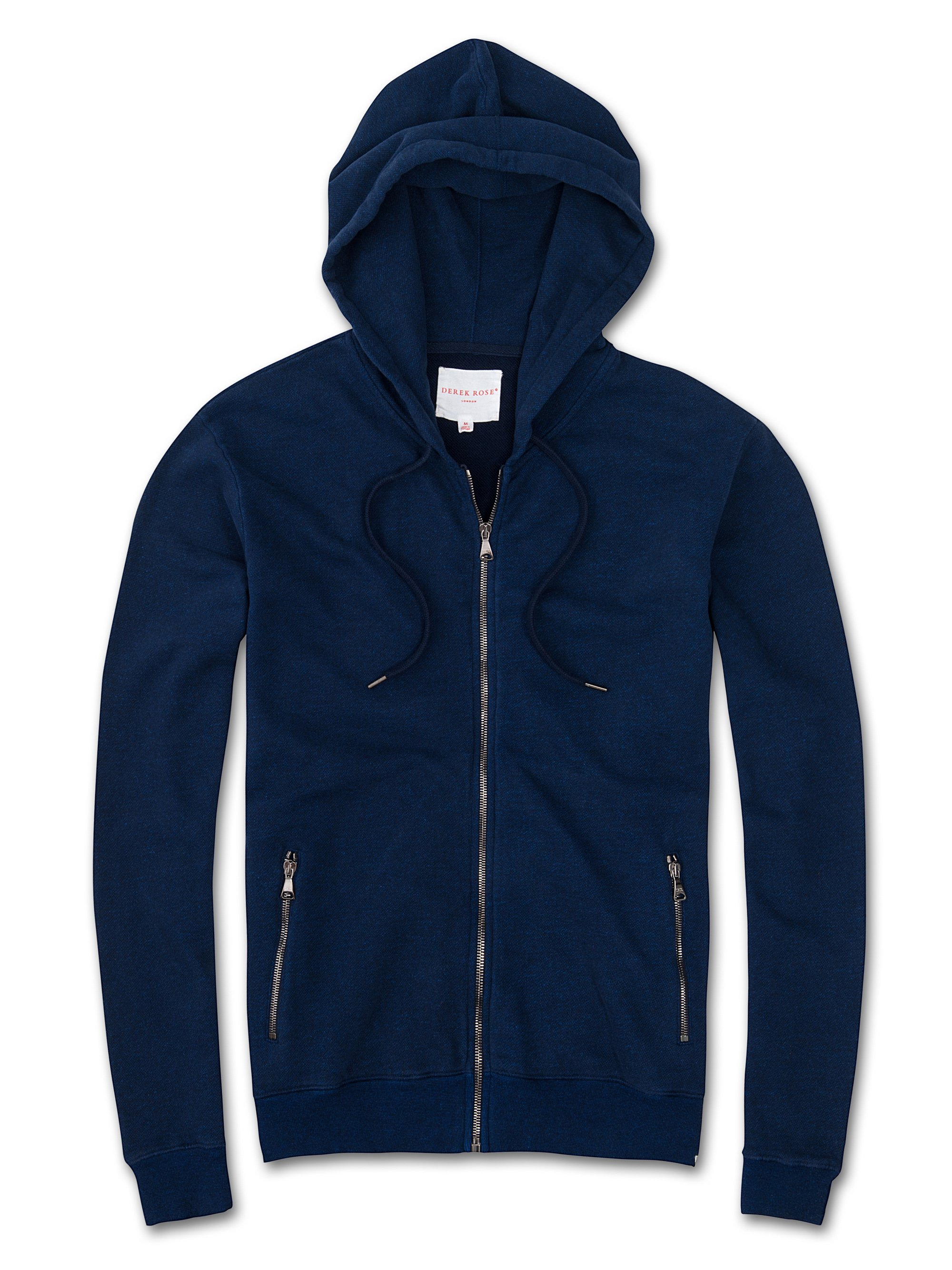 Men's Hoodie Devon Loopback Cotton Navy