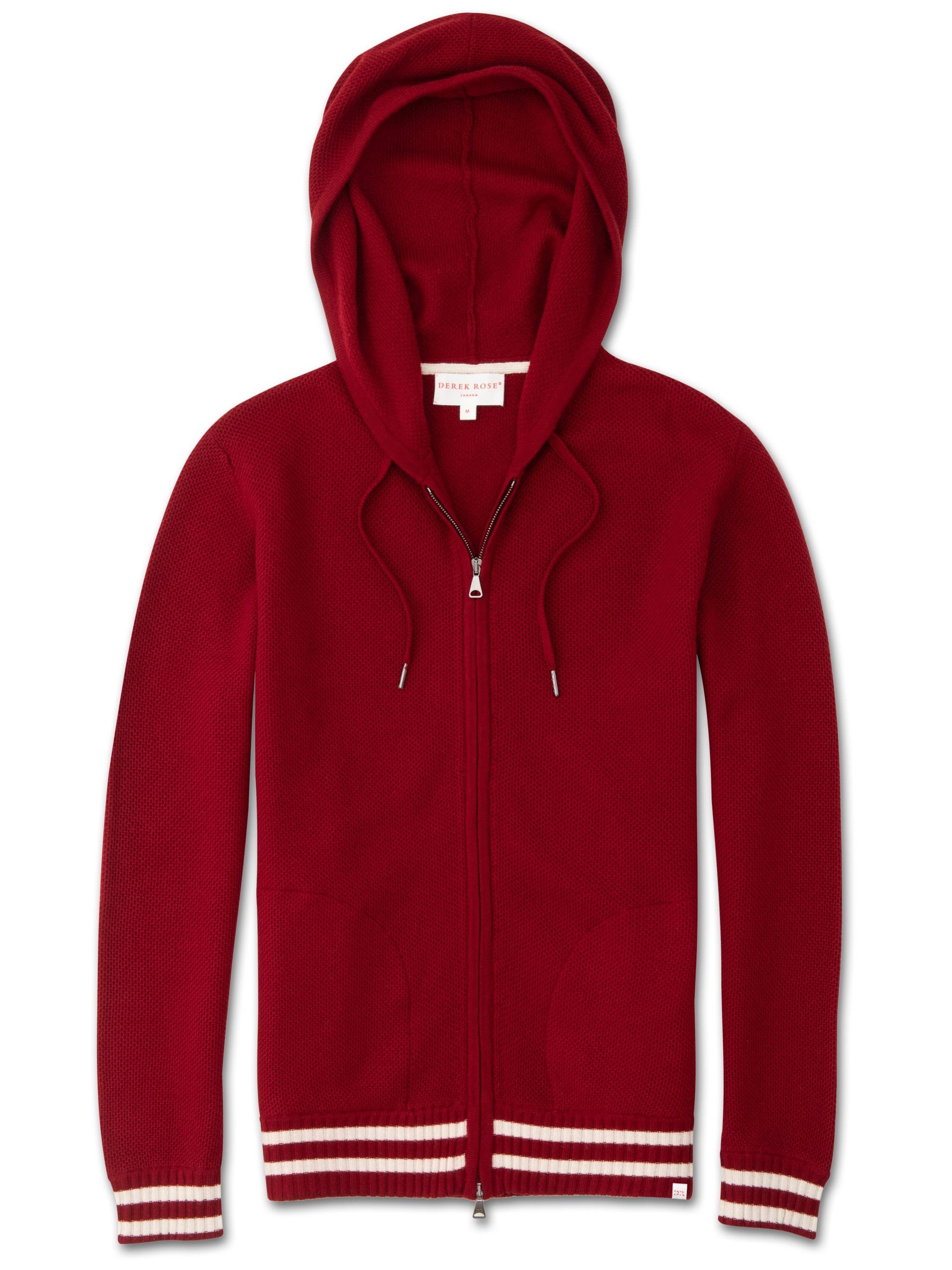 Men's Cashmere Hoodie Felix 2 Pure Cashmere Red