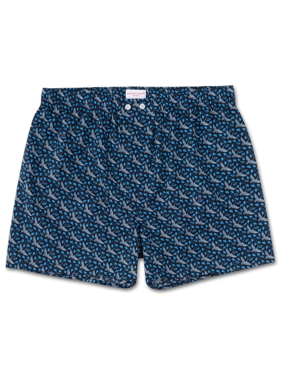 Men's Classic Fit Boxer Shorts Ledbury 15 Cotton Batiste Navy
