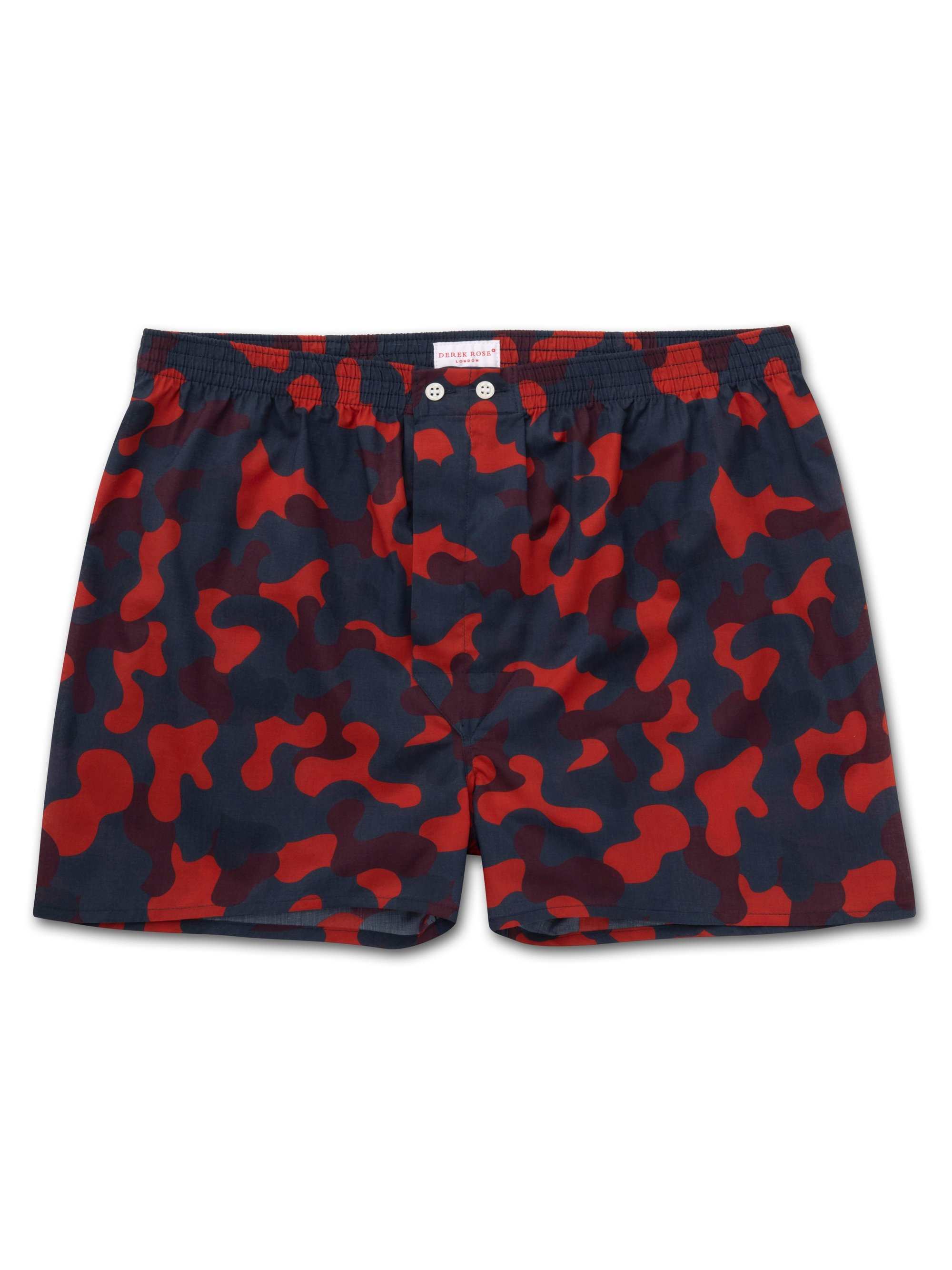 Men's Classic Fit Boxer Shorts Ledbury 36 Cotton Batiste Red