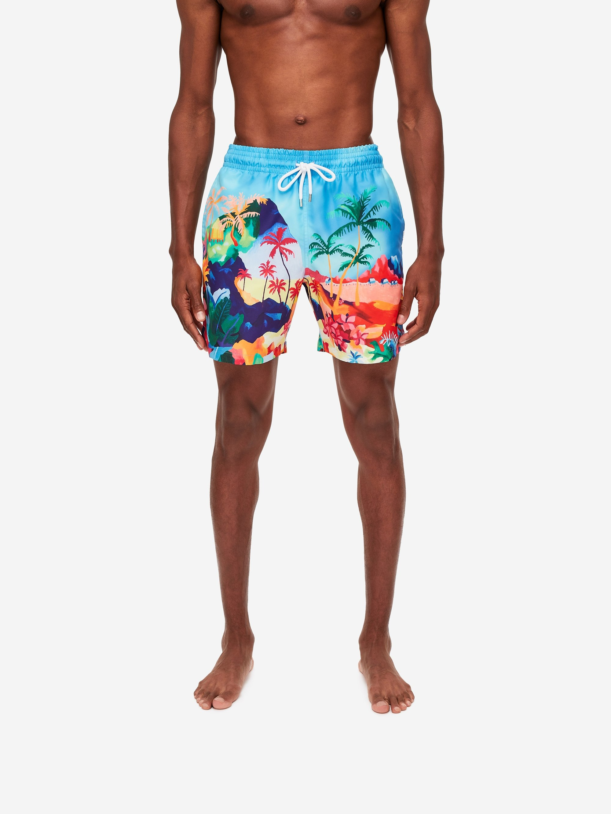 Men's Classic Fit Swim Shorts Oahu 4 Multi