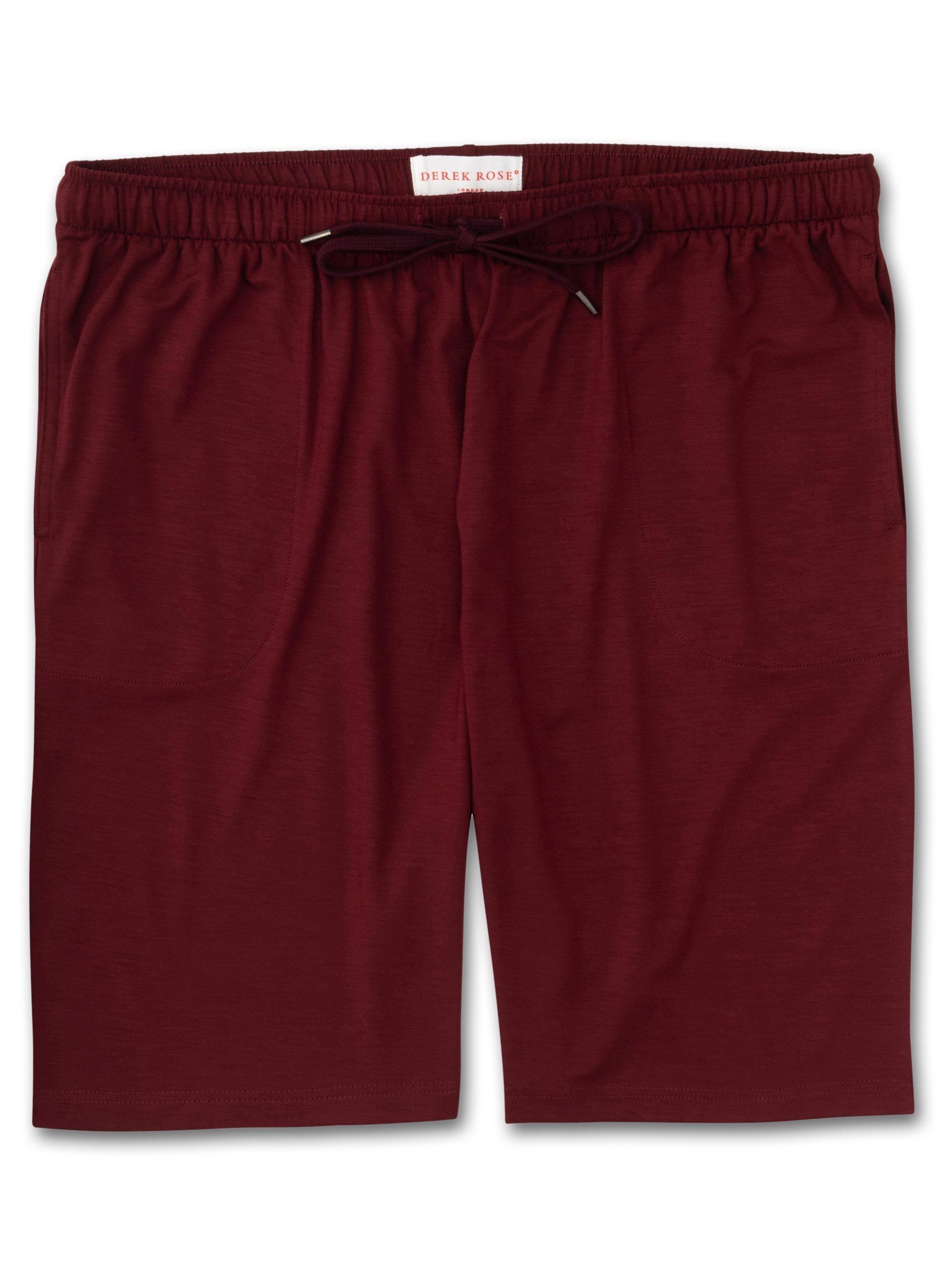 Men's Jersey Shorts Basel 7 Micro Modal Stretch Burgundy