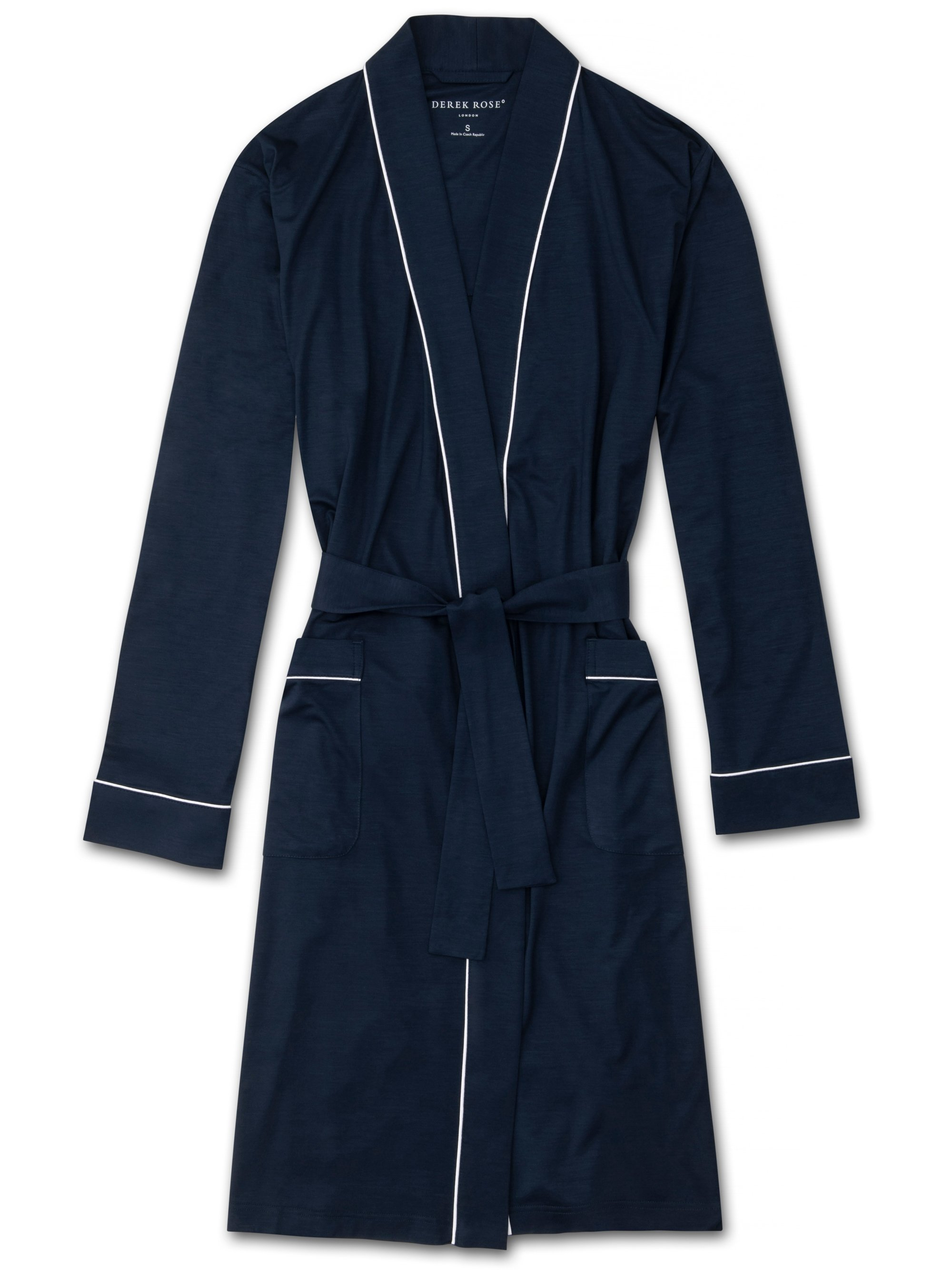 Women's Jersey Dressing Gown Lara Micro Modal Stretch Navy