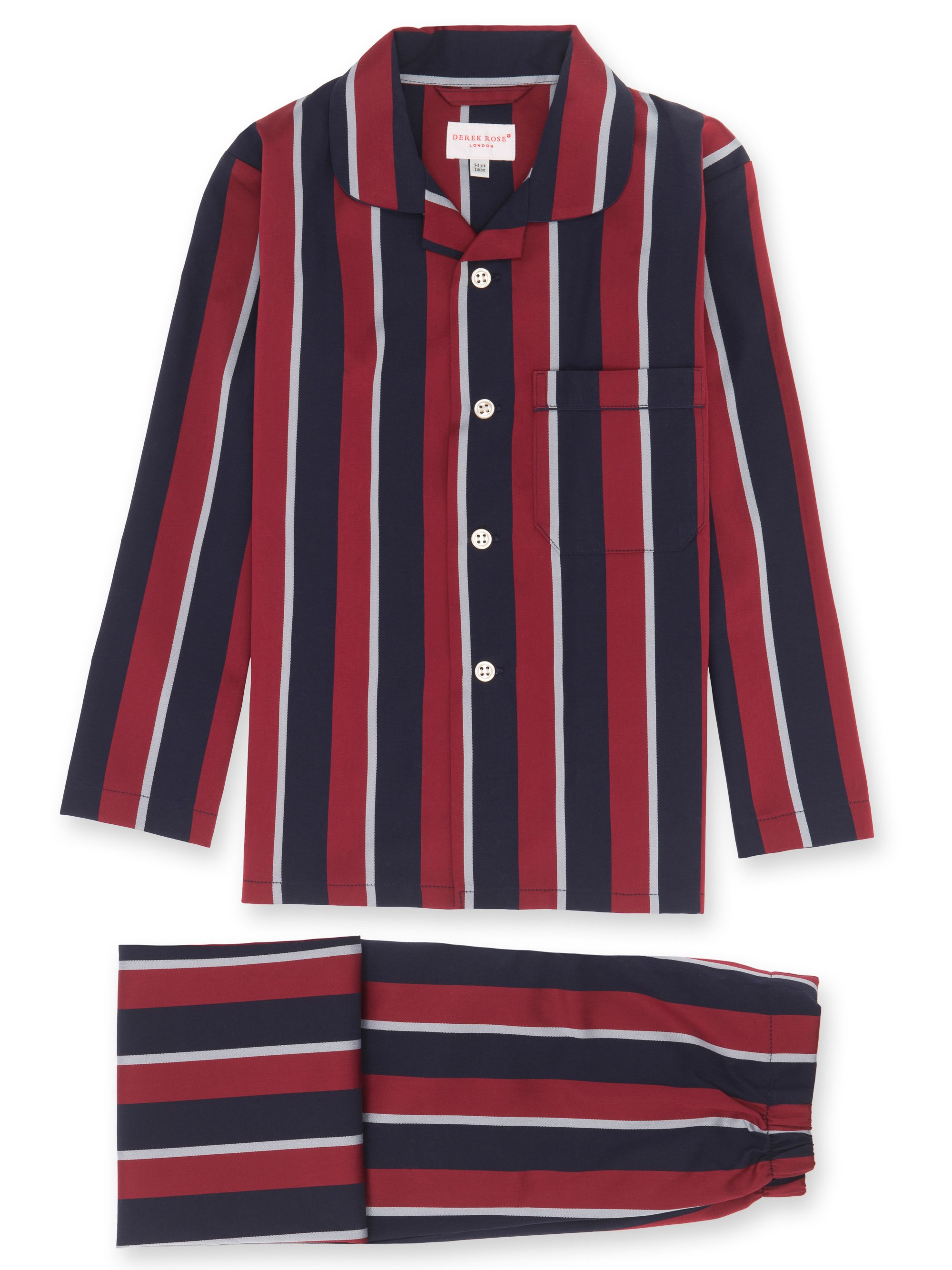 Boys' Pyjamas Cotton Satin Stripe Regimental RAF