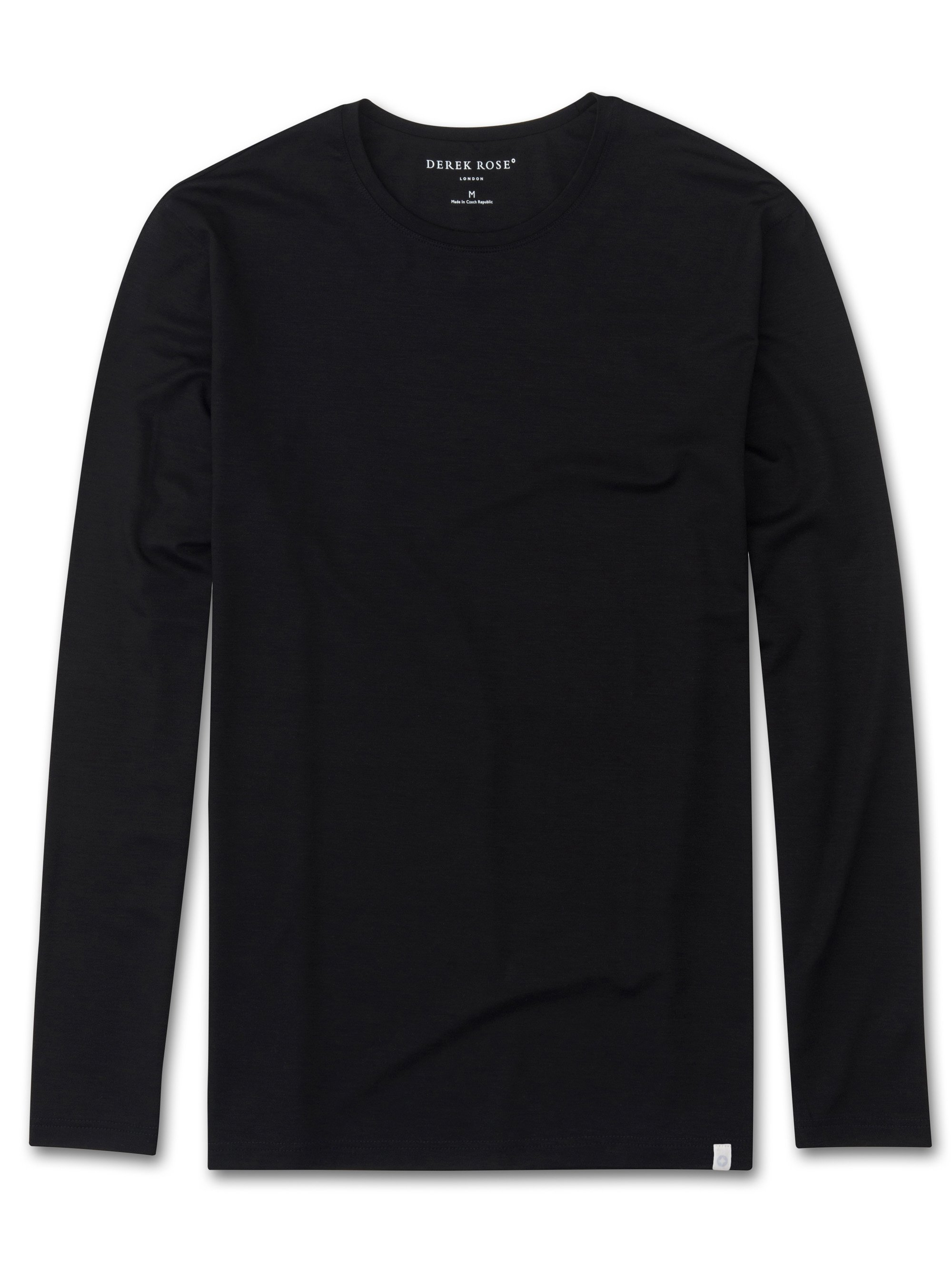 Men's Long Sleeve T-Shirt Basel Micro Modal Stretch Black