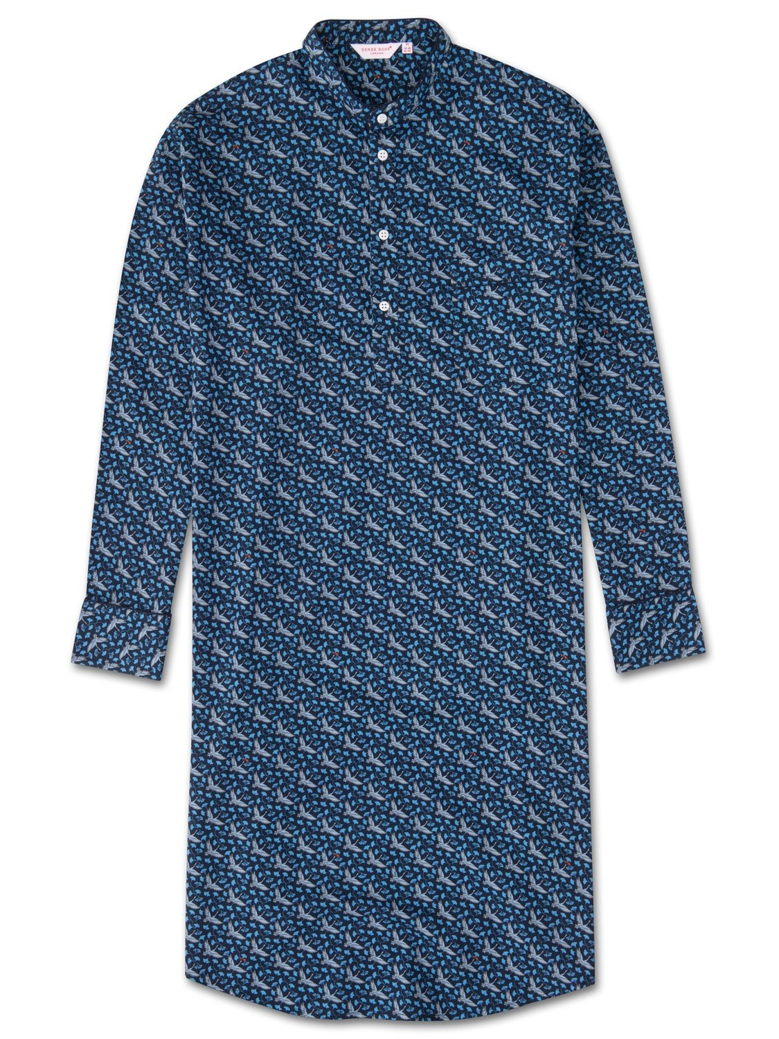 Men's Pullover Nightshirt Ledbury 15 Cotton Batiste Navy