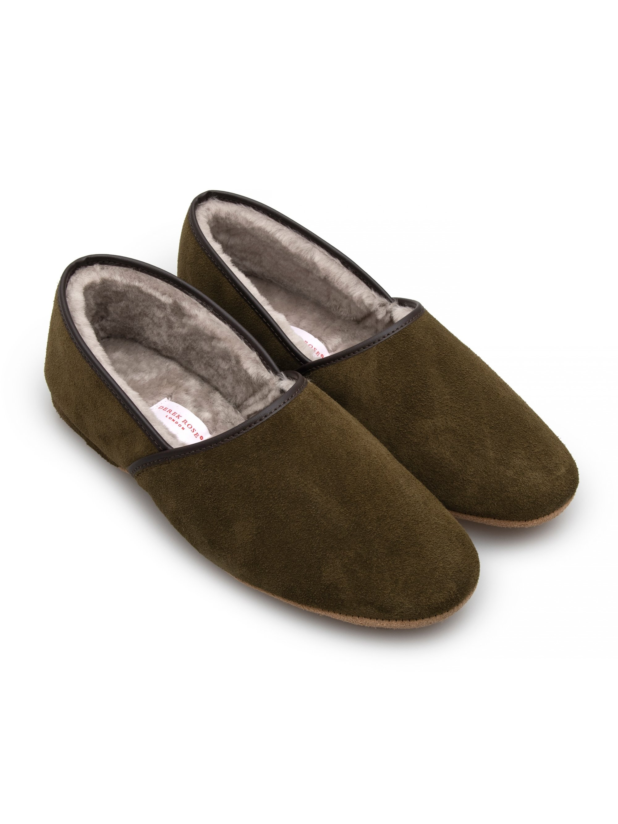 Men's Closed-Back Slipper Crawford Suede Sheepskin Khaki