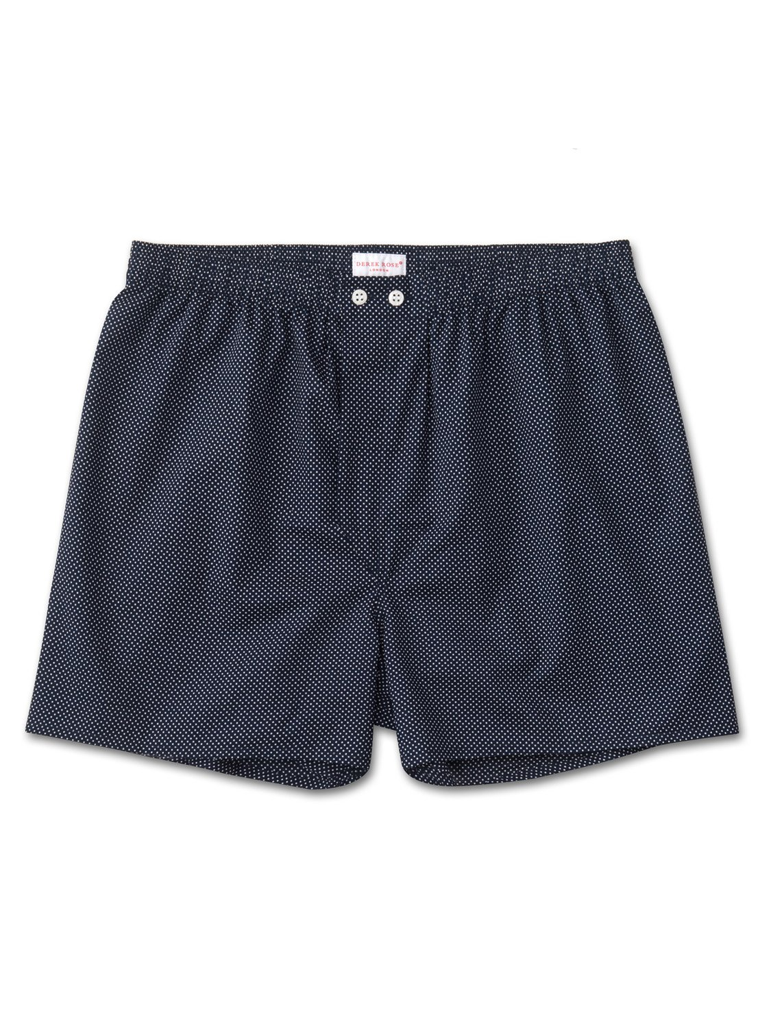 Men's Classic Fit Boxer Shorts Plaza 21 Pure Cotton Batiste Navy