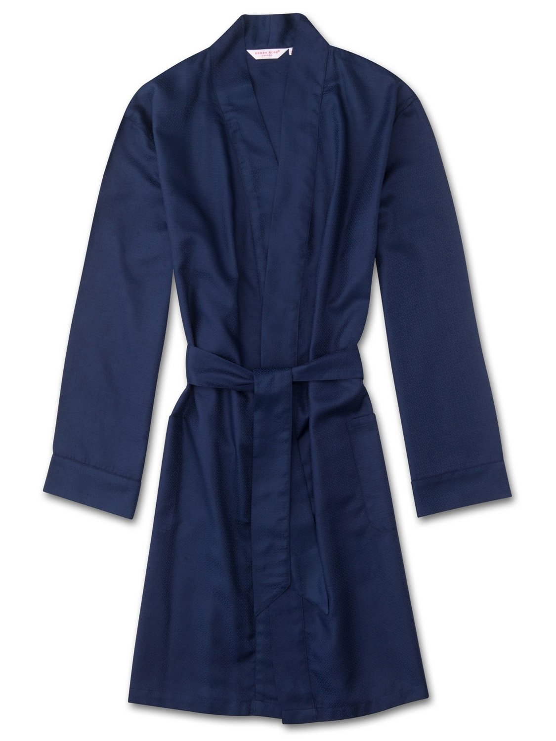 Men's Lounge Gown Lombard 6 Cotton Jacquard Navy