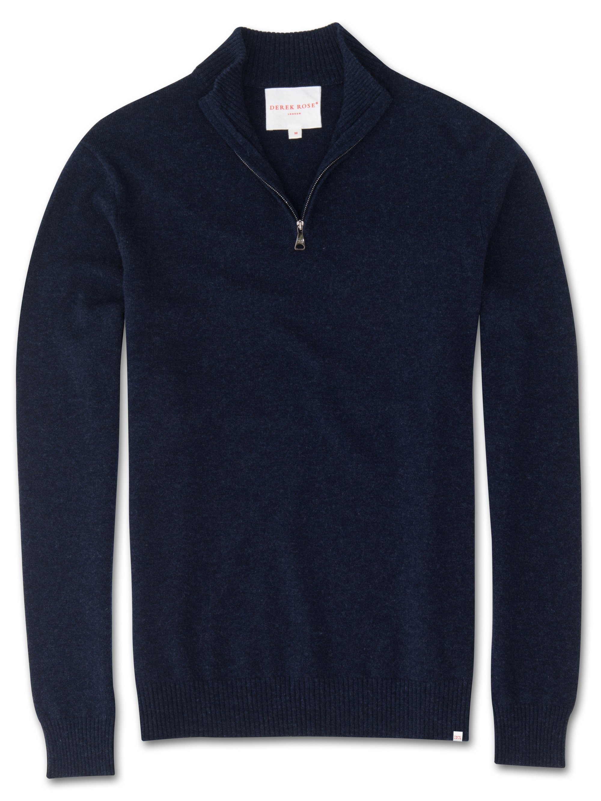 Men's Cashmere Half-Zip Sweater Finley Pure Cashmere Midnight