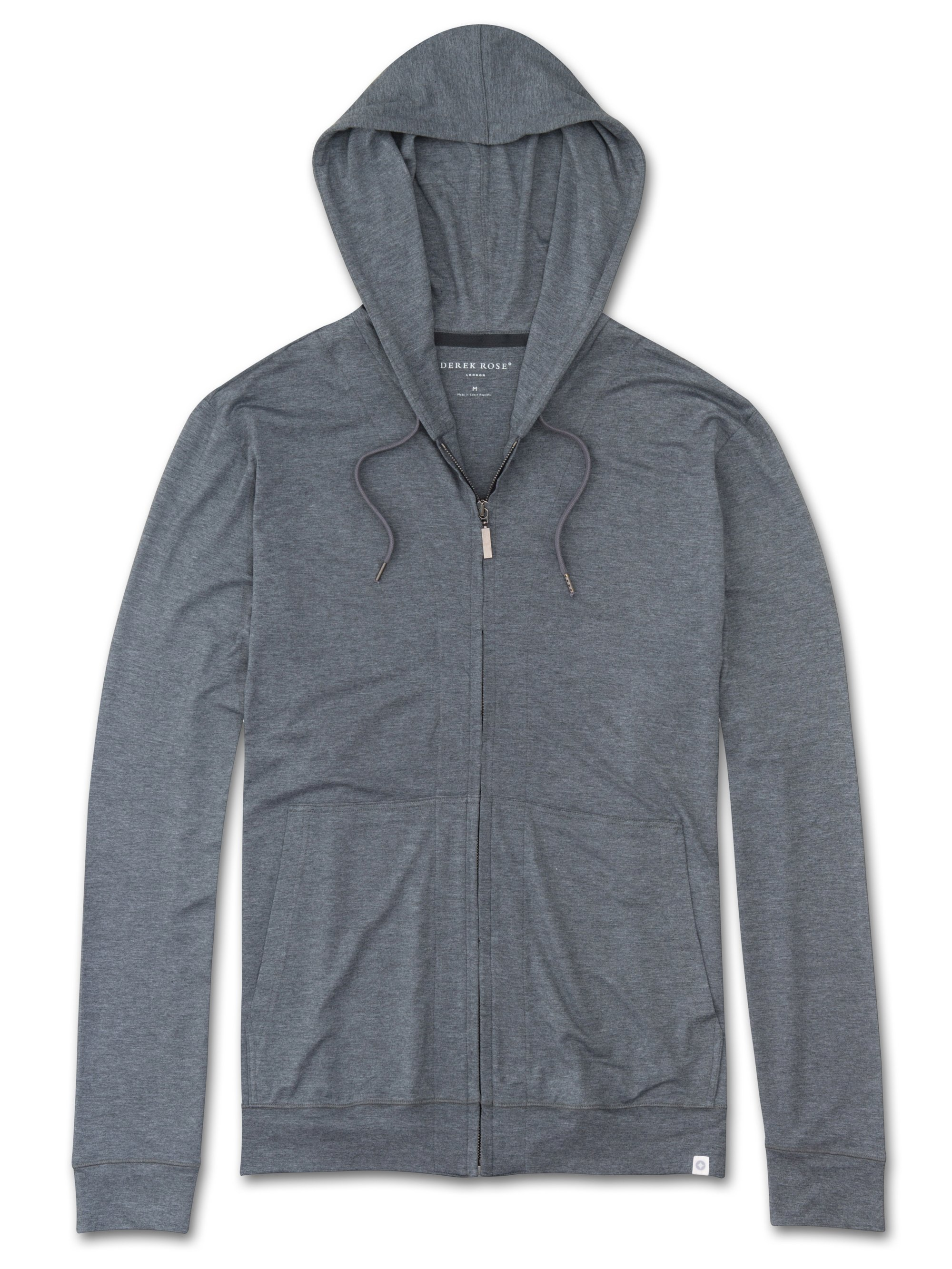 Men's Jersey Hoodie Marlowe Micro Modal Stretch Charcoal