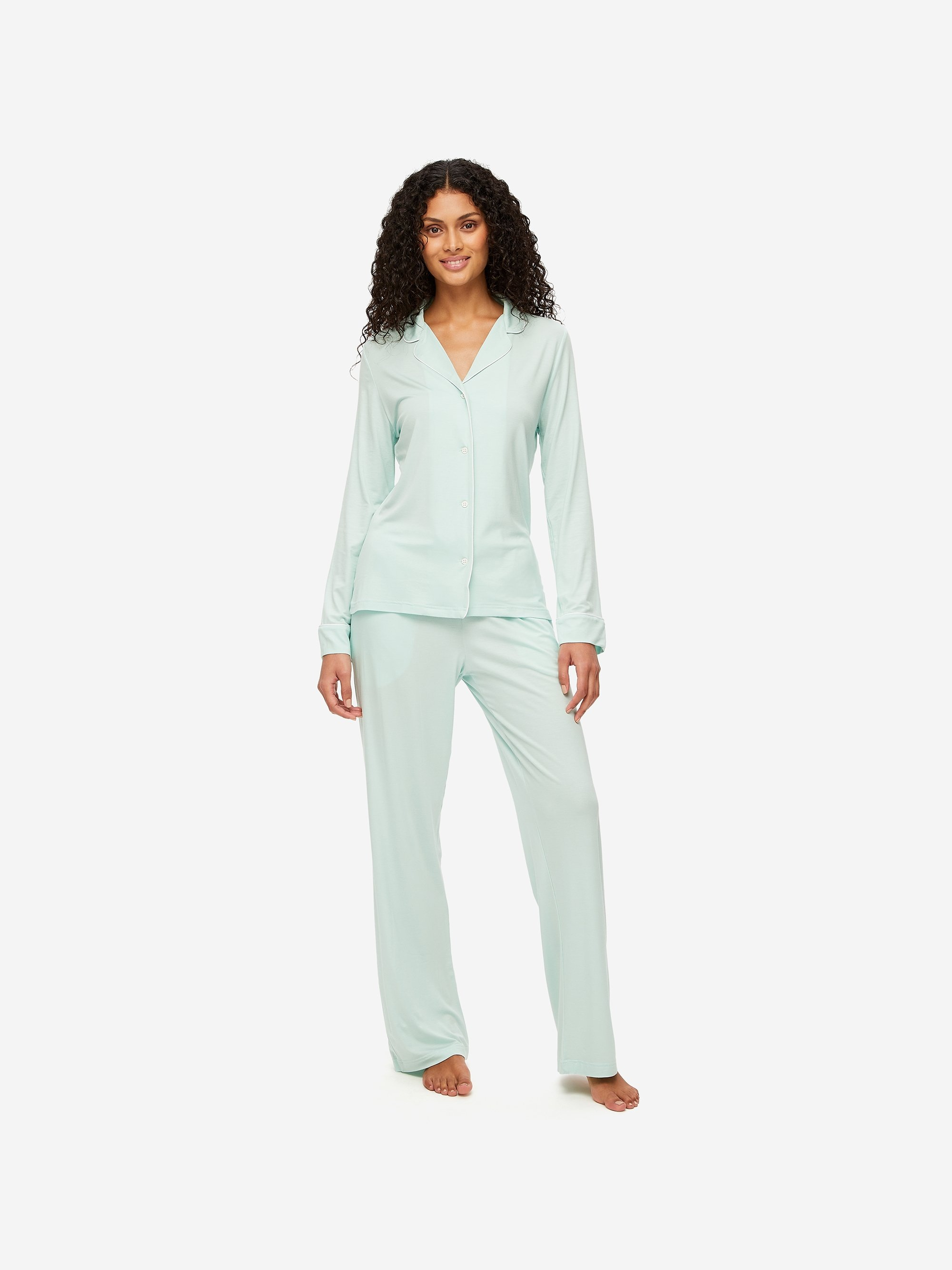 Women's Jersey Pyjamas Lara Micro Modal Stretch Mint
