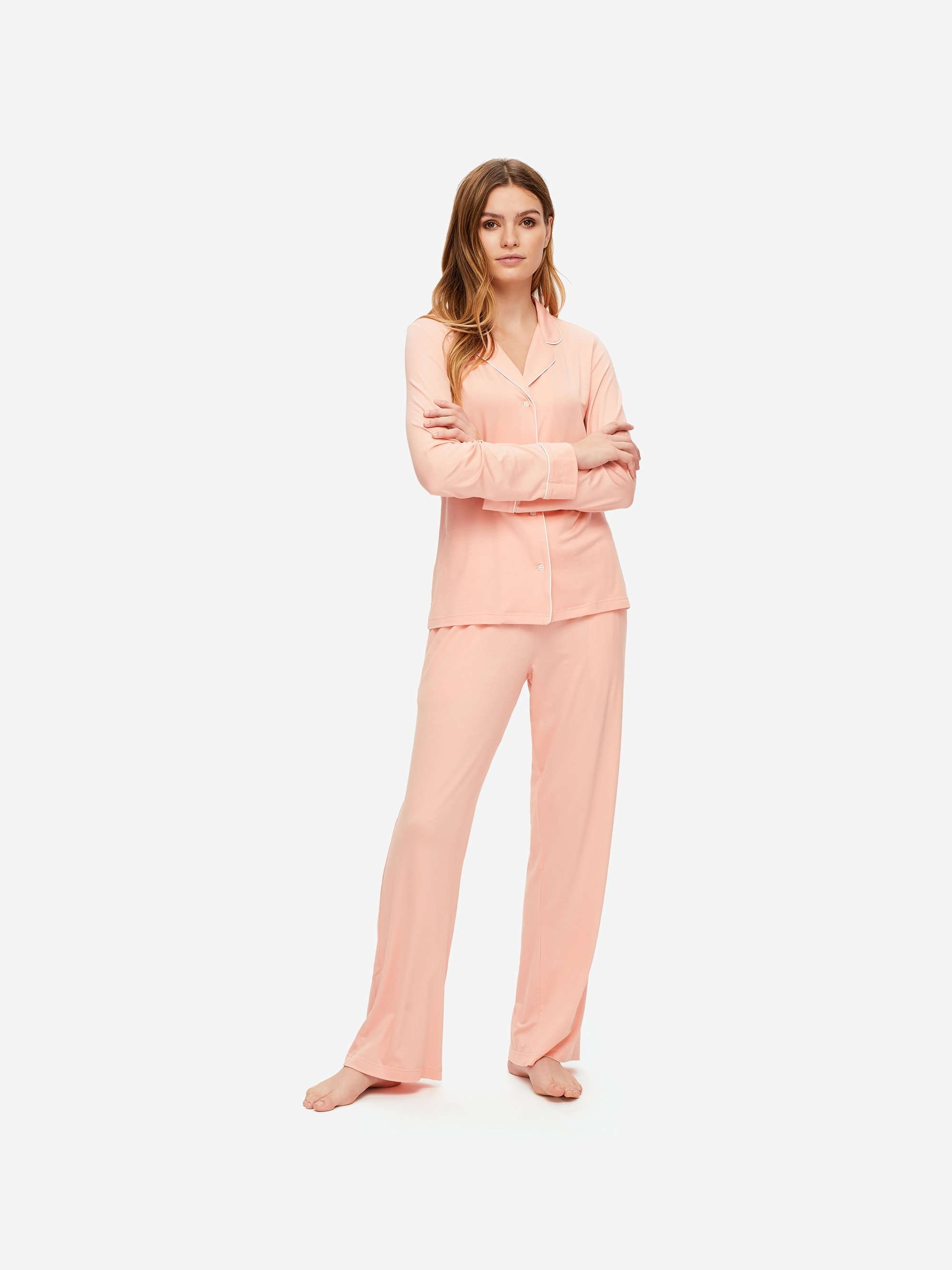 Women's Jersey Pyjamas Lara Micro Modal Stretch Peach