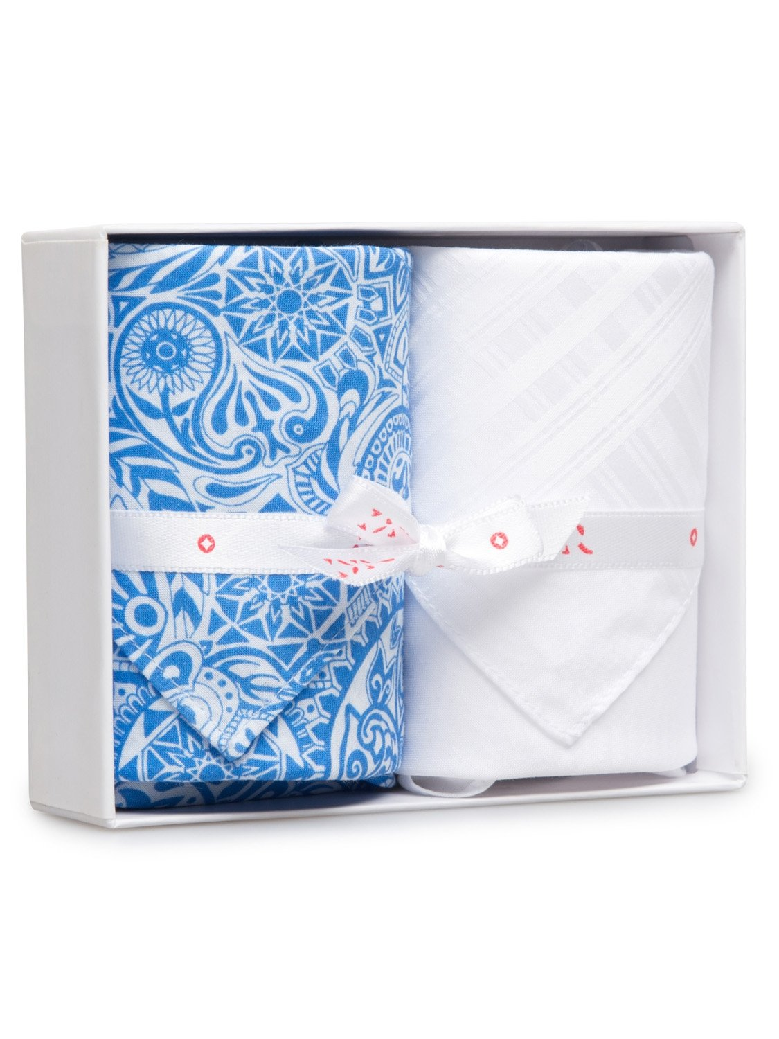 Handkerchief Set Pack 130 Ledbury 6 Blue & Plain White