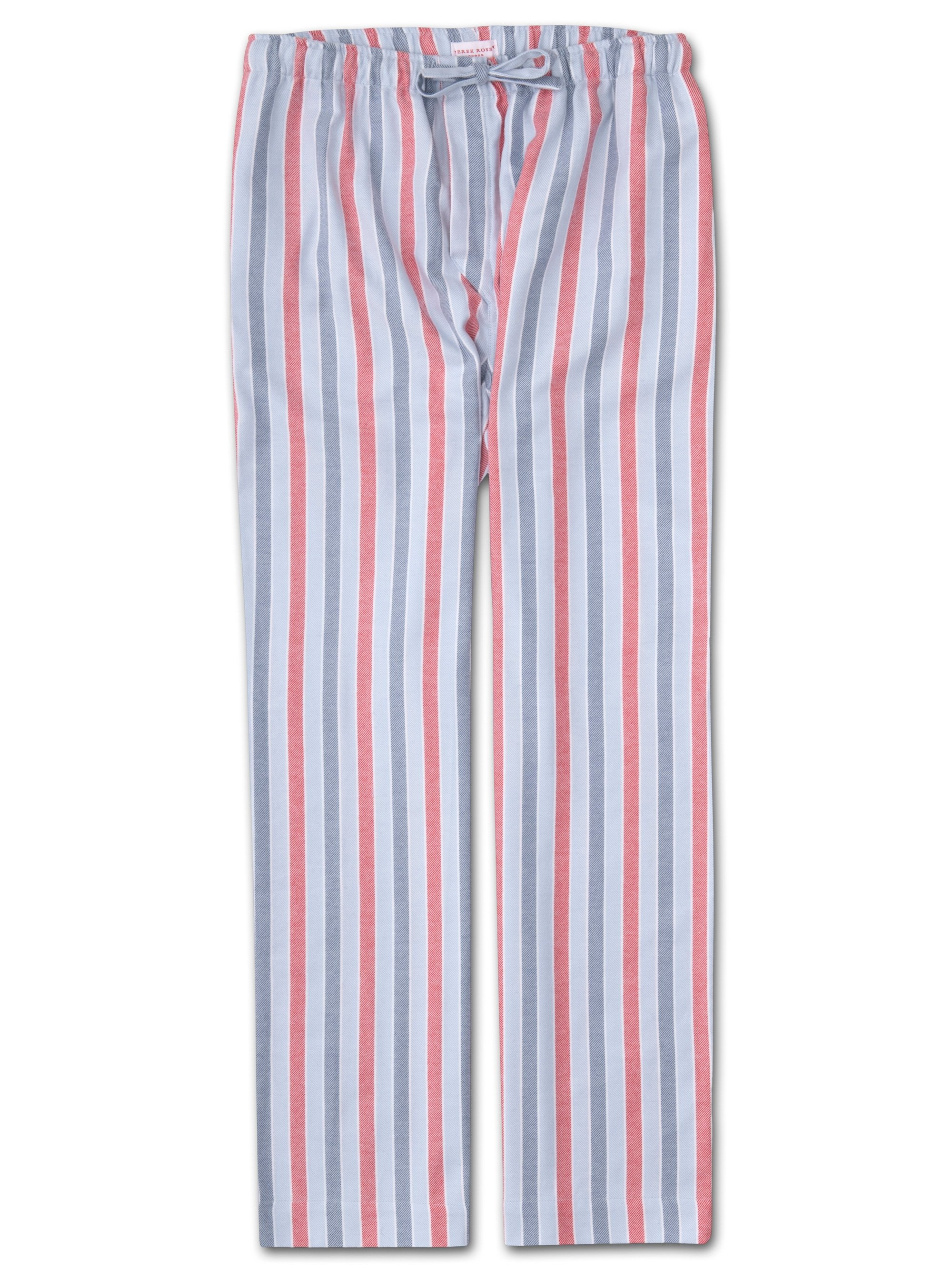 Men's Lounge Trousers Kelburn 11 Brushed Cotton Stripe Blue