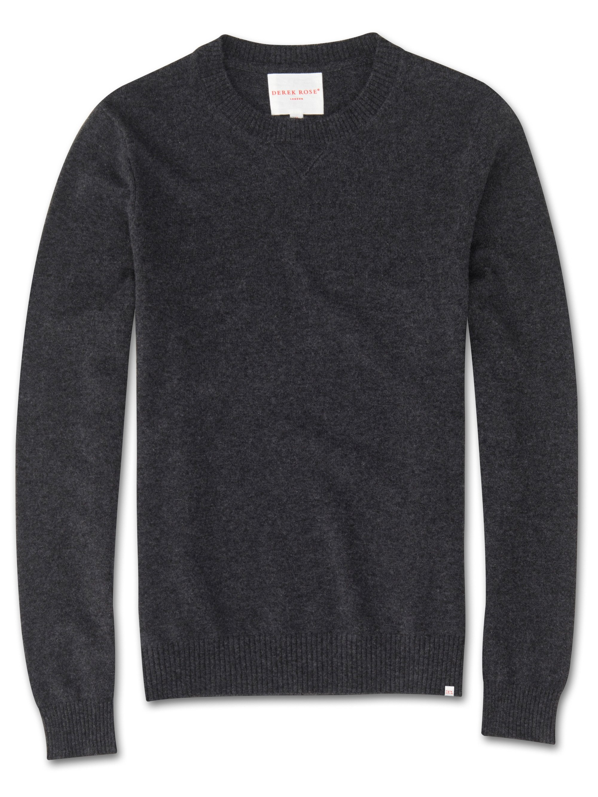 Men's Cashmere Sweater Finley Pure Cashmere Charcoal