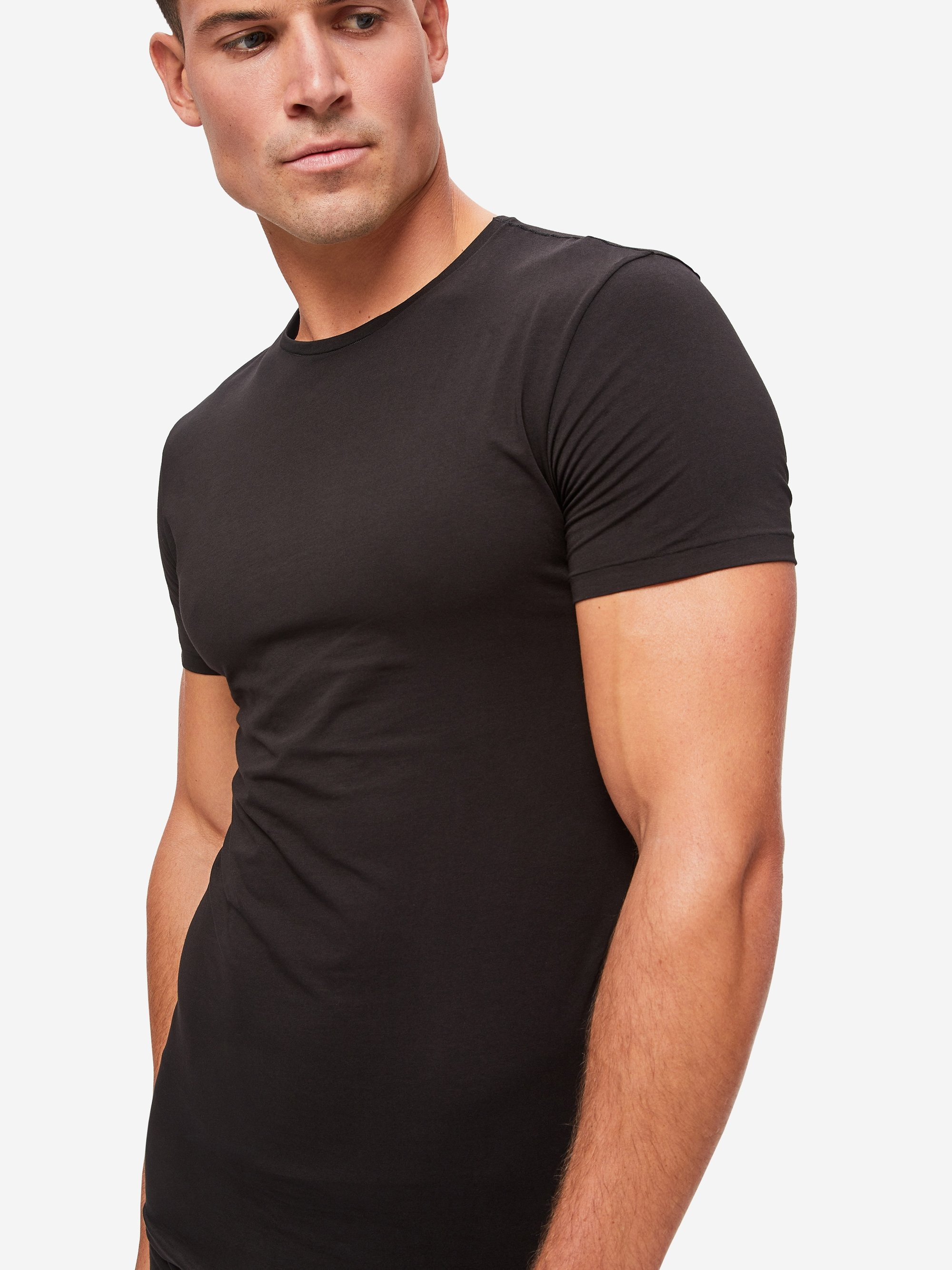 Men's Underwear Crew-Neck T-Shirt Jack Pima Cotton Stretch Black