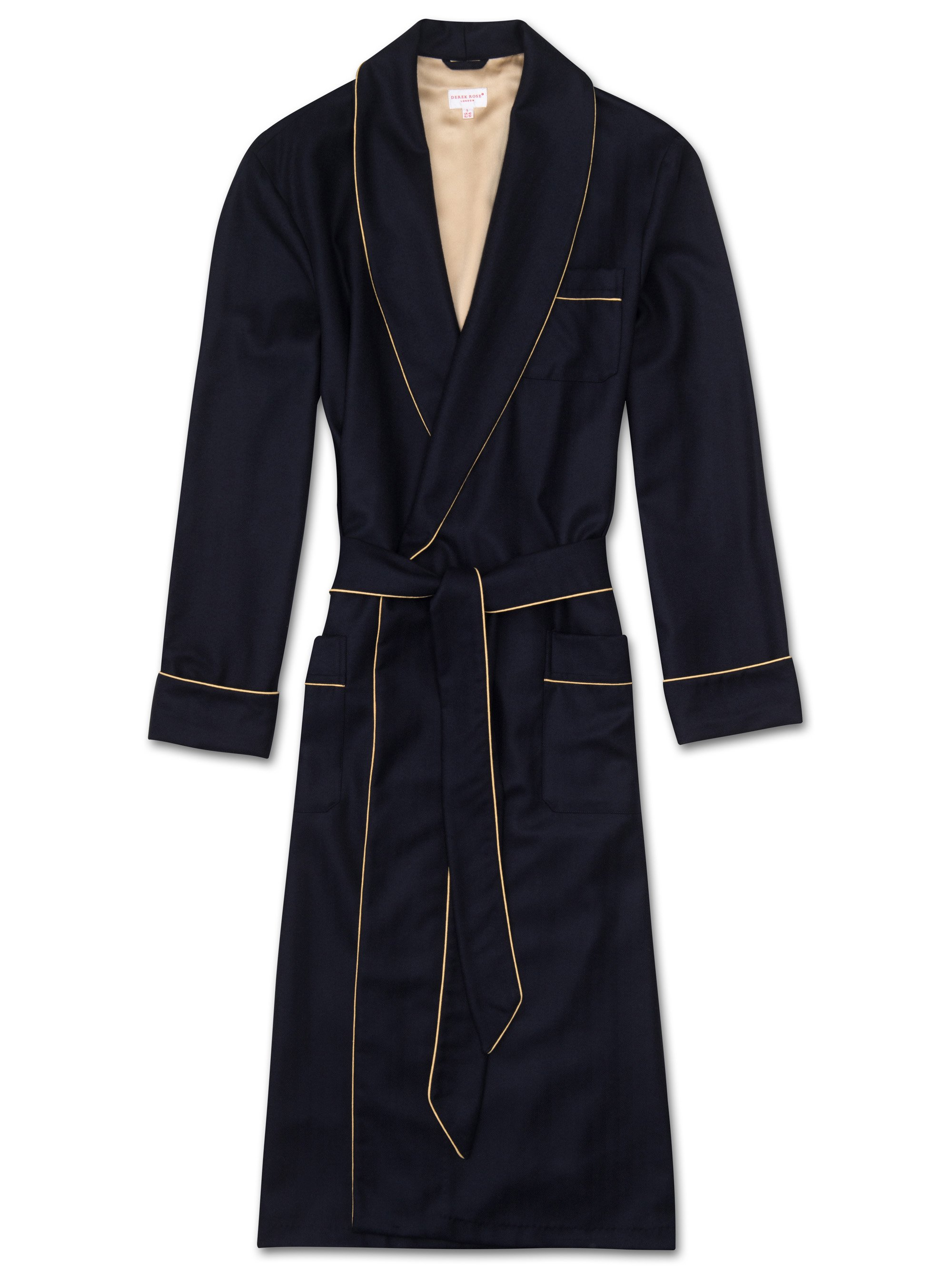 Men's Cashmere Dressing Gown Duke Pure Cashmere Navy