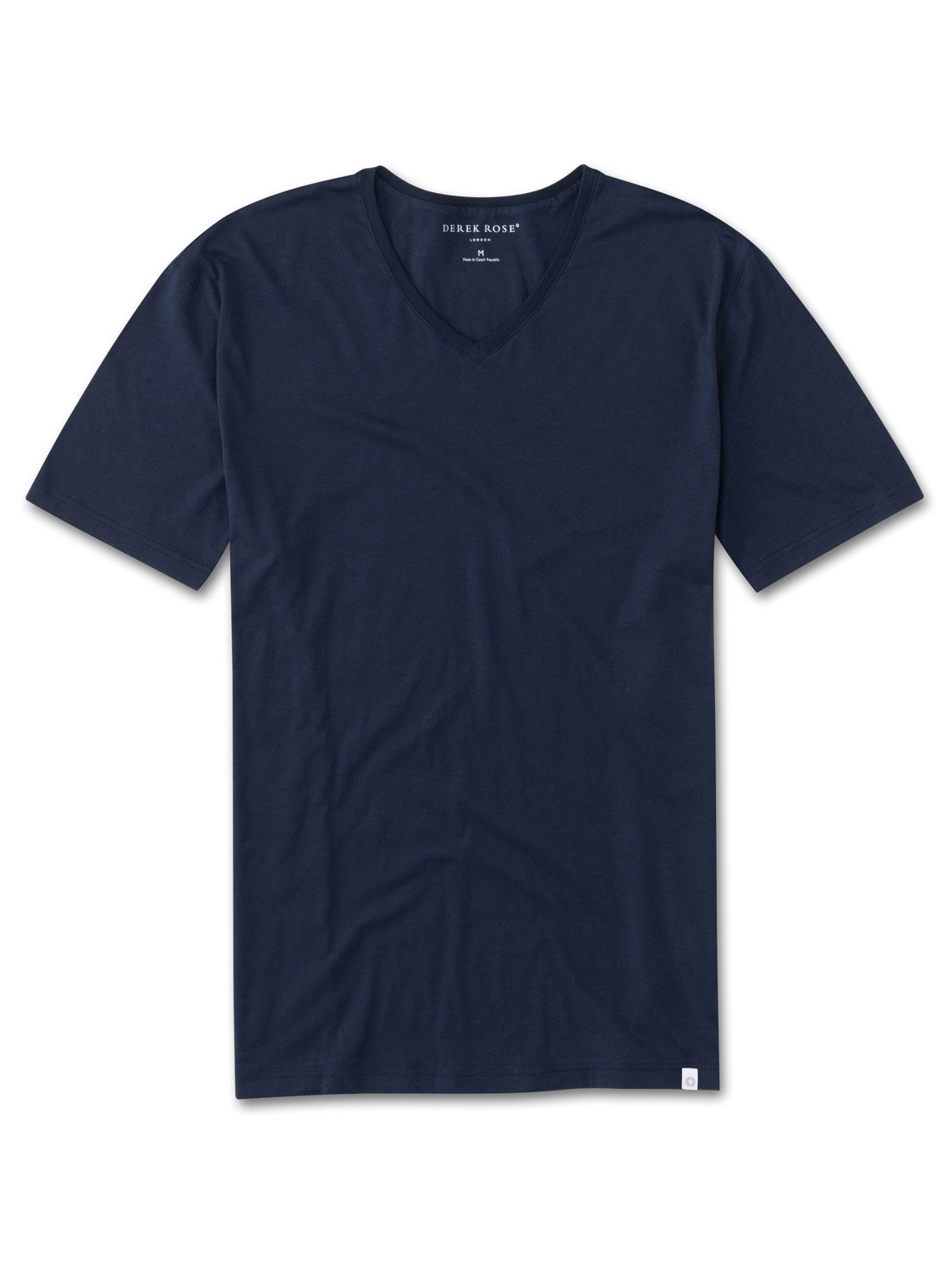 Men's Short Sleeve V-Neck T-Shirt Riley Pima Cotton Navy