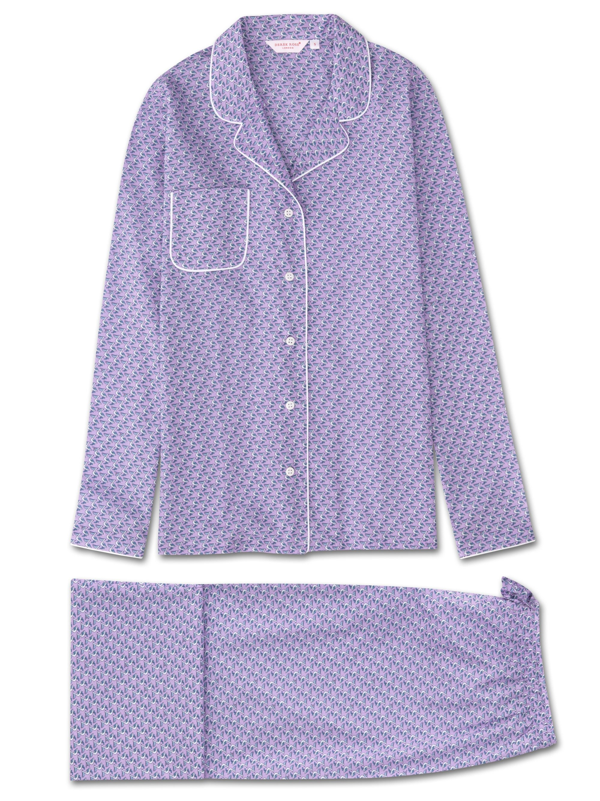Women's Pyjamas Ledbury 16 Cotton Batiste Lilac