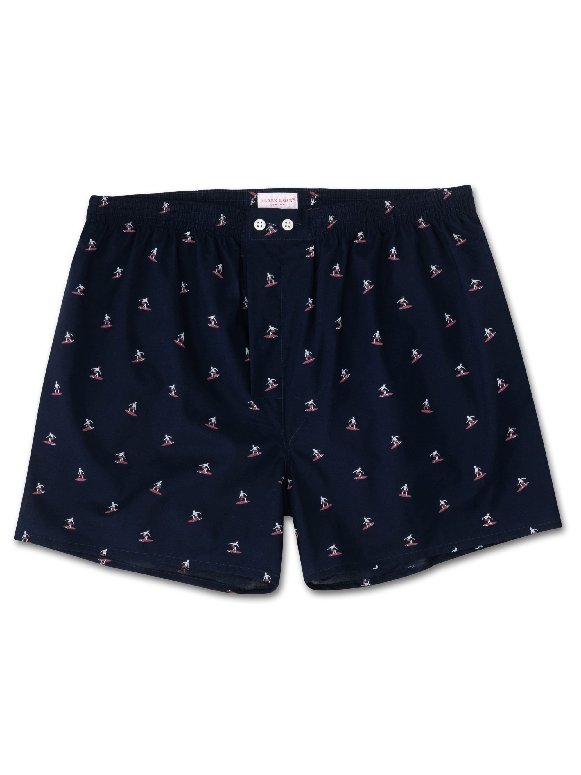 Men's Classic Fit Boxer Shorts Nelson 69 Cotton Batiste Navy