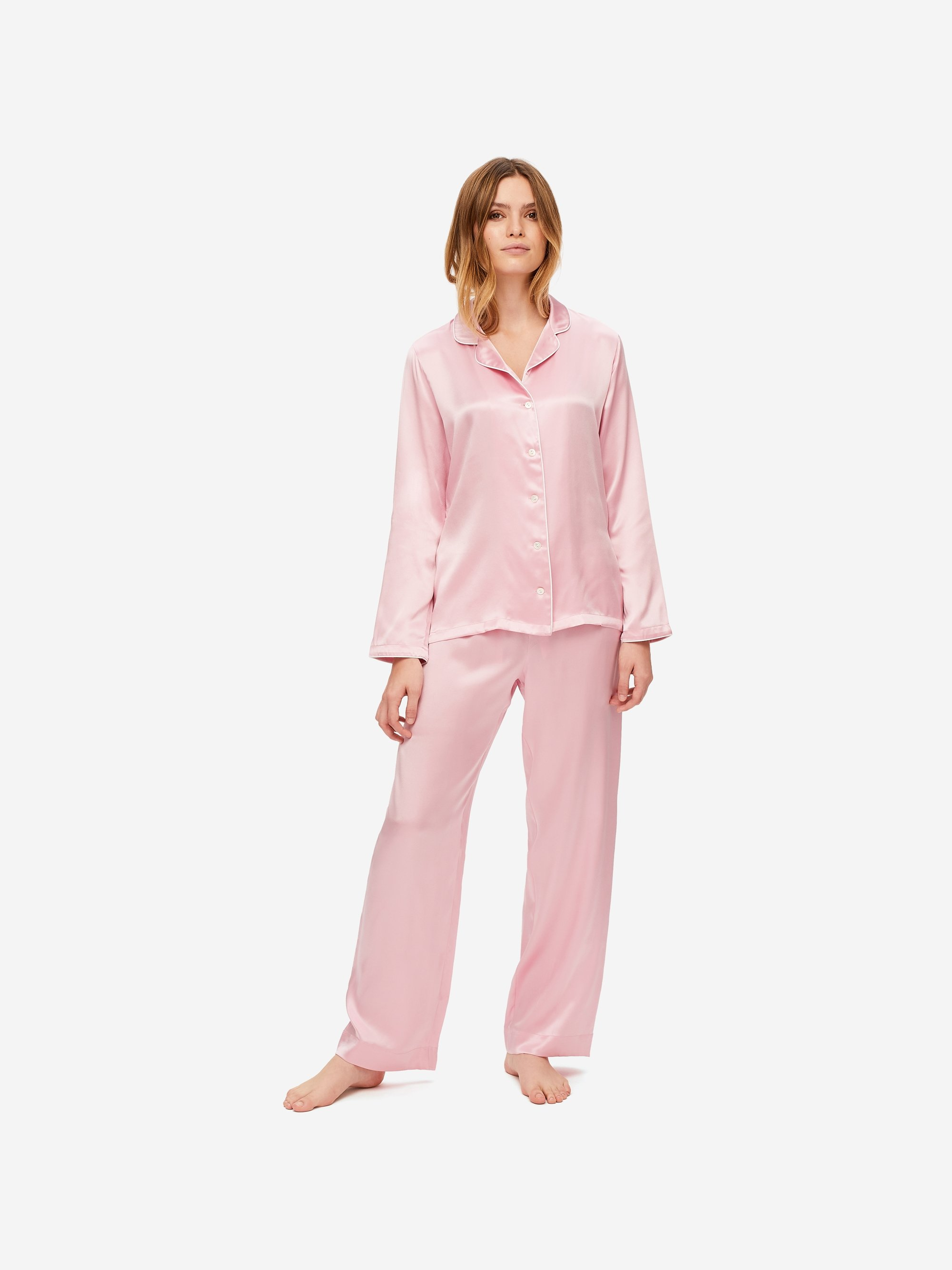 Women's Pyjamas Bailey 2 Pure Silk Satin Pink