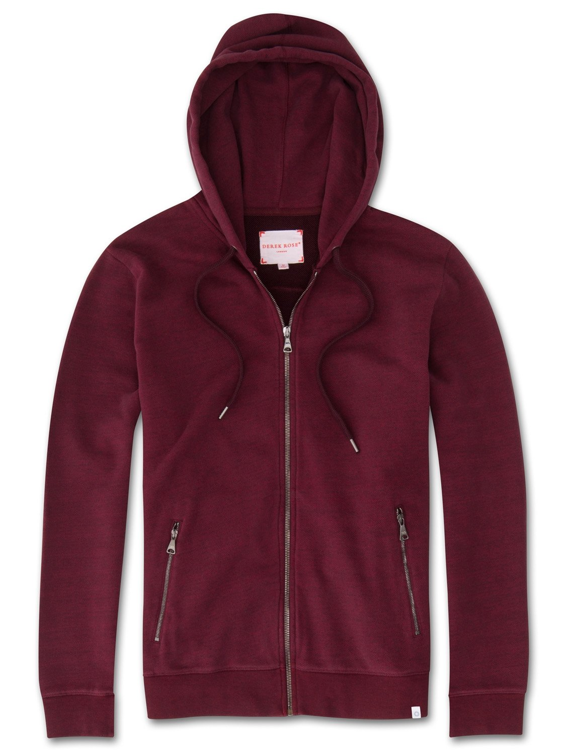 Men's Hoodie Devon Loopback Cotton Burgundy