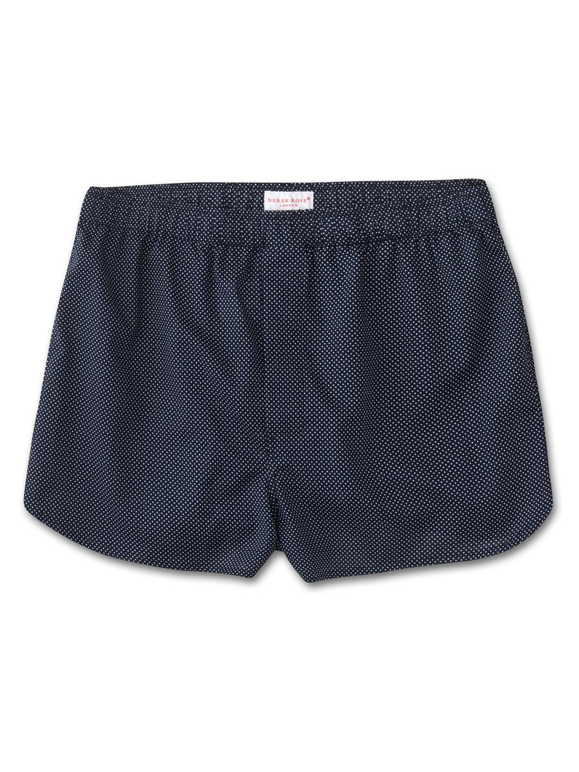 Men's Modern Fit Boxer Shorts Plaza 21 Pure Cotton Batiste Navy
