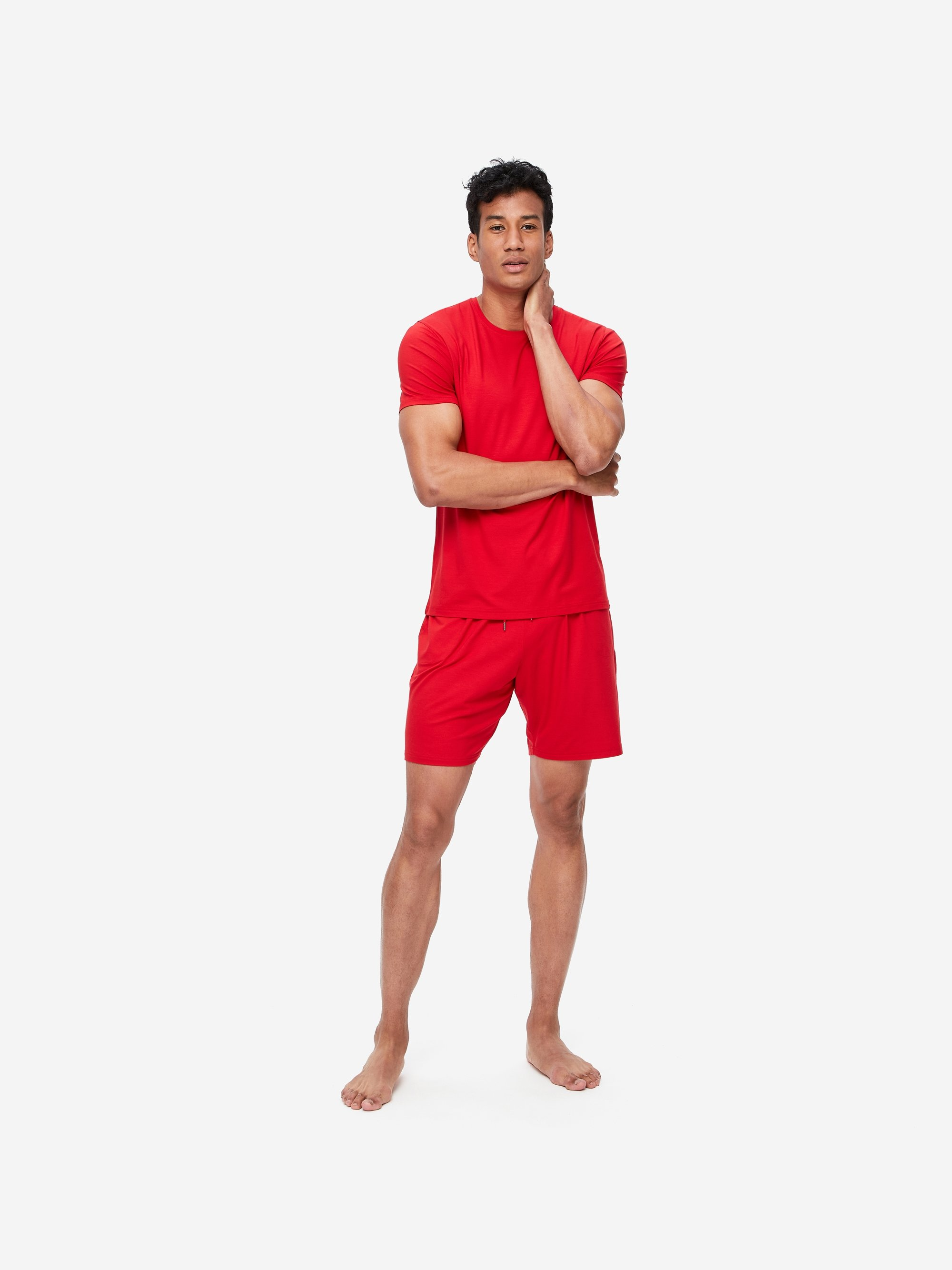Men's Jersey Shorts Basel 9 Micro Modal Stretch Red