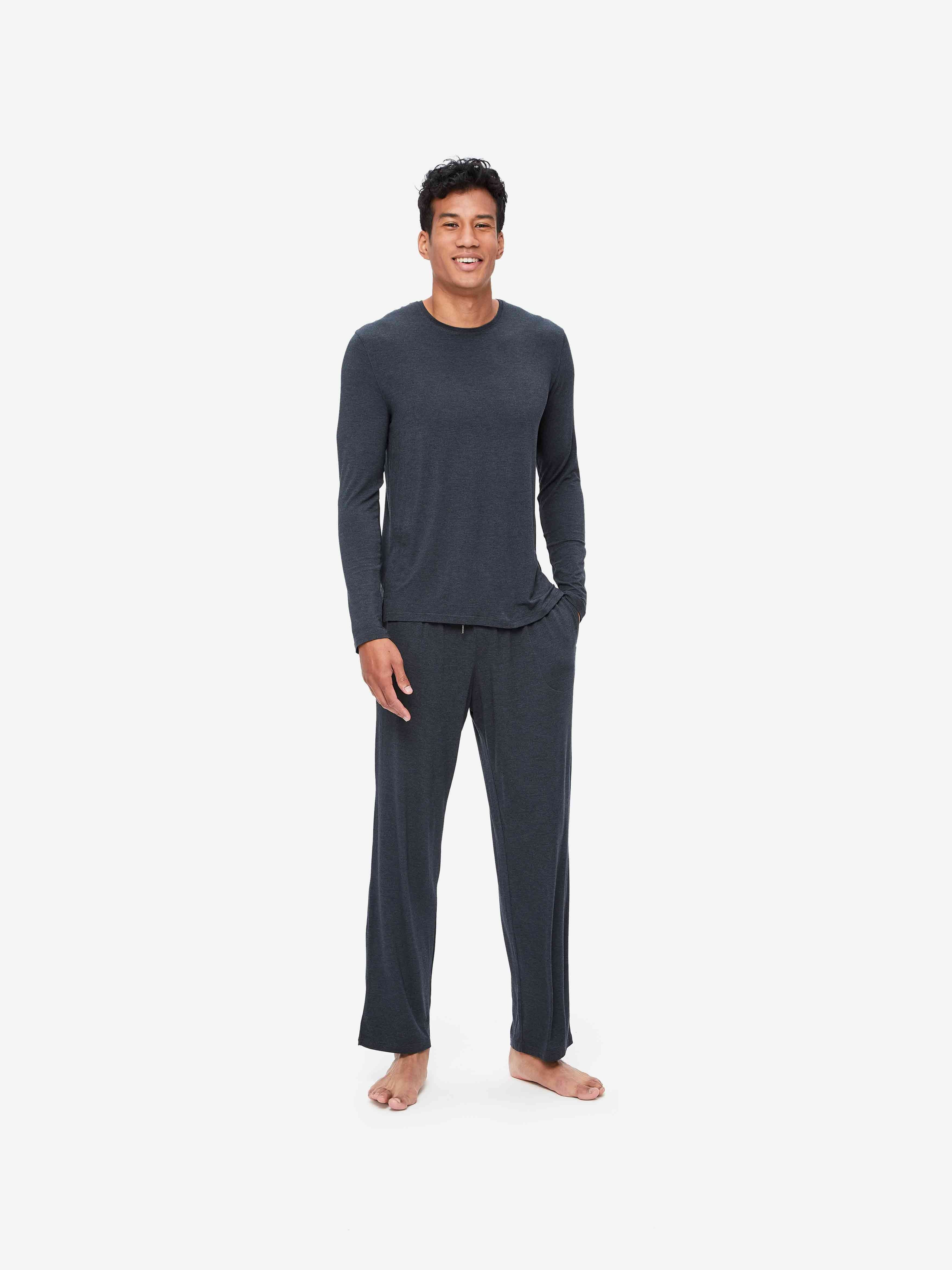 Men's Lounge Trousers Marlowe Micro Modal Stretch Anthracite