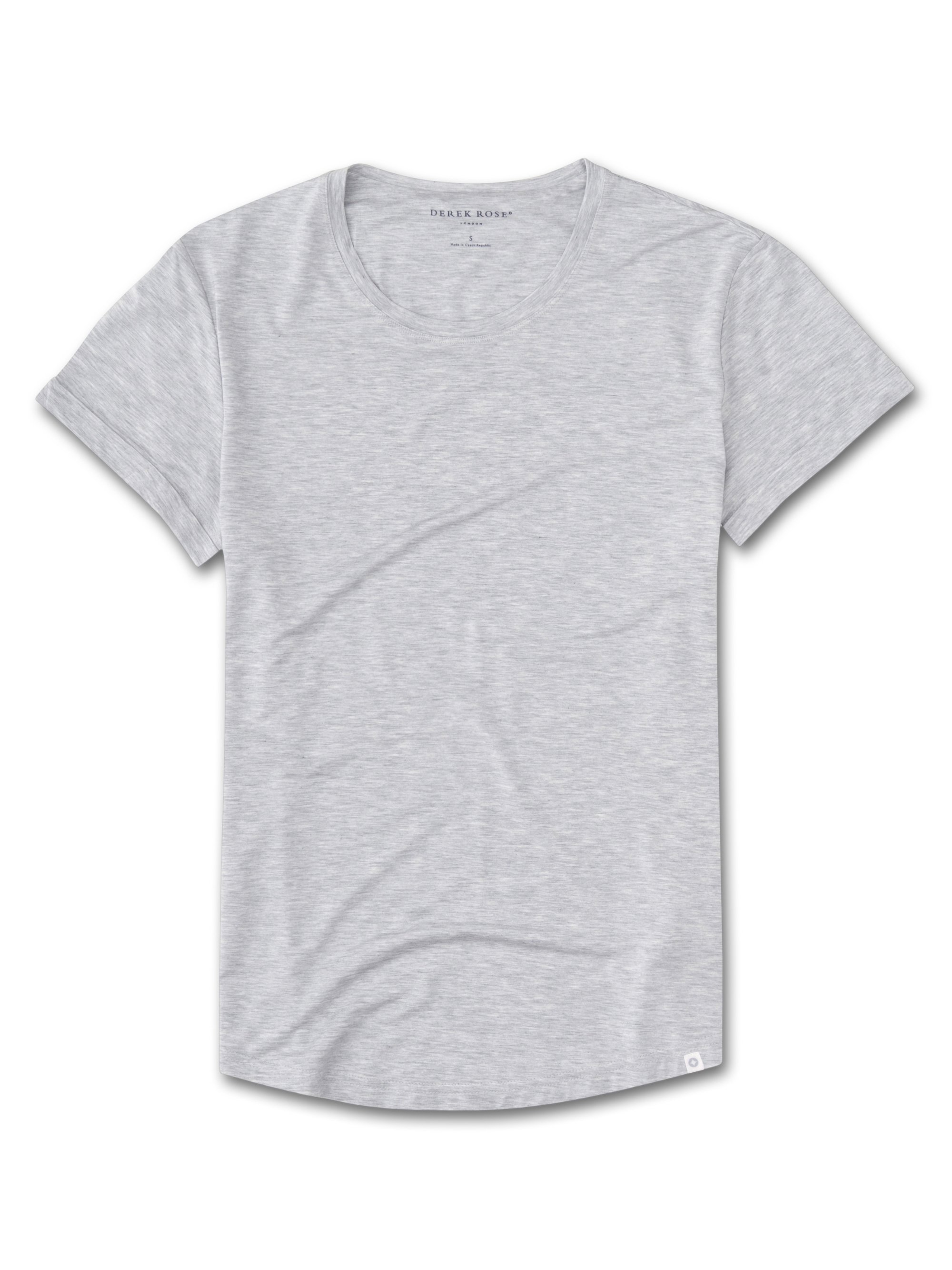 Women's Leisure T-Shirt Ethan Micro Modal Stretch Stretch Silver
