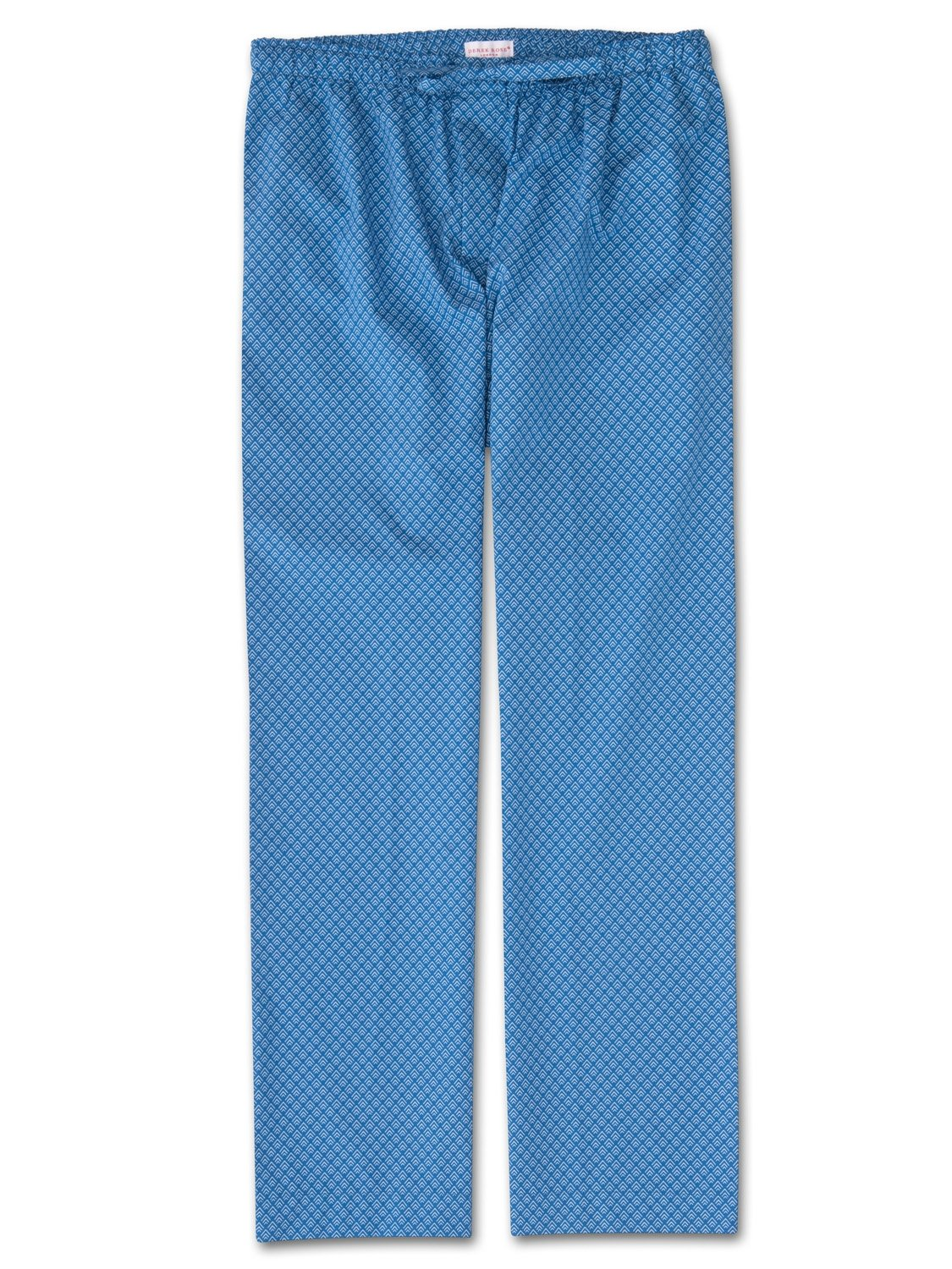 Men's Lounge Trousers Nelson 66 Cotton Batiste Blue