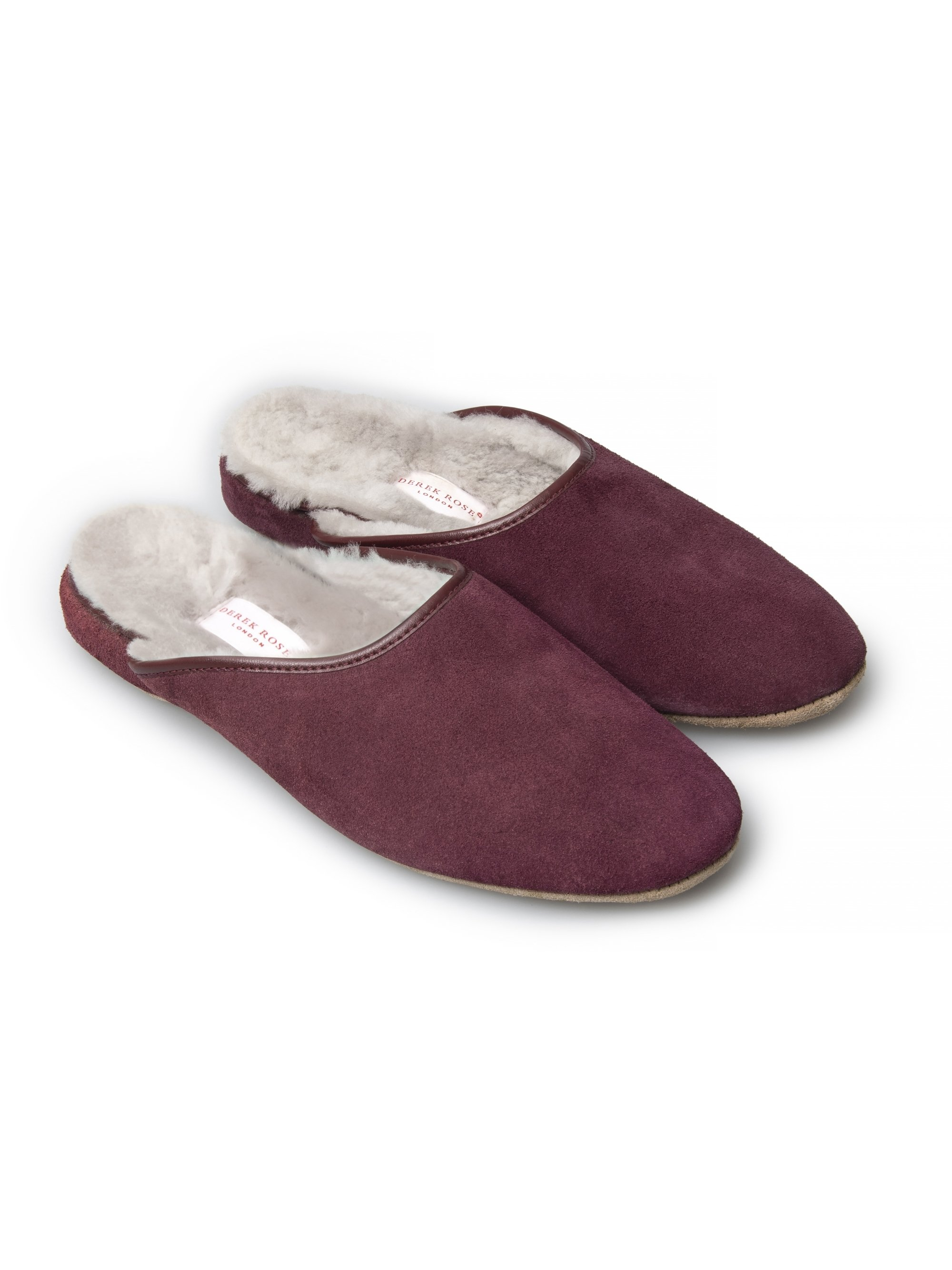 Women's Open-Back Slipper Imogen Suede Sheepskin Bordeaux