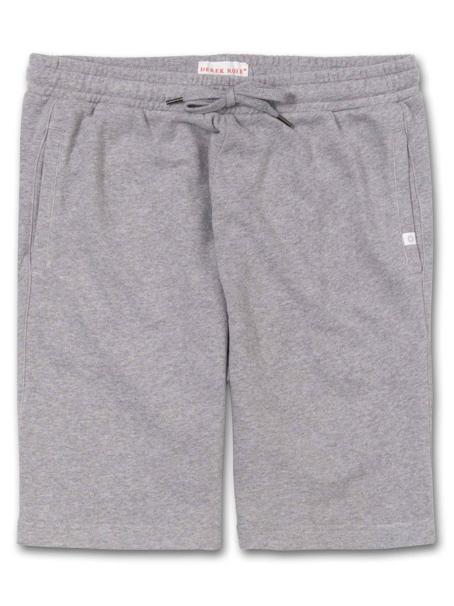 Men's Sweat Shorts Devon Loopback Cotton Silver
