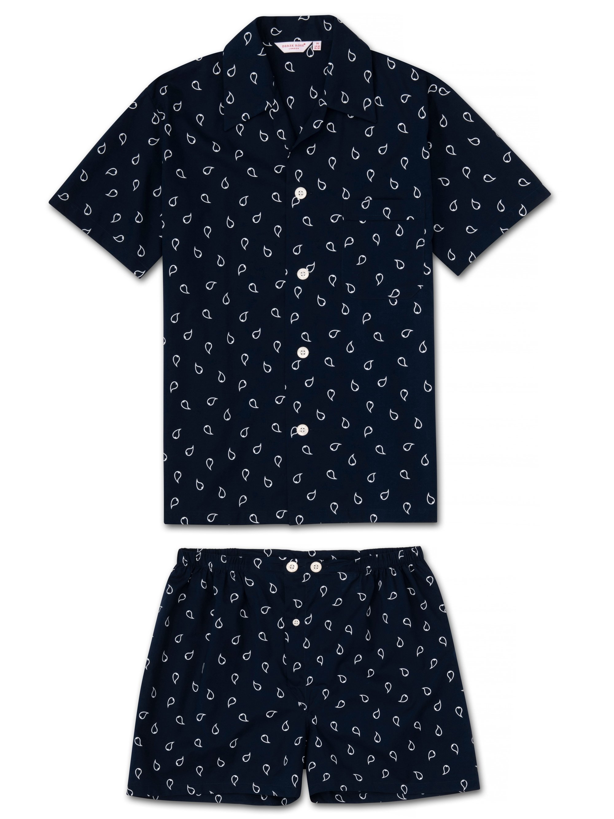 Men's Short Pyjamas Nelson 74 Cotton Batiste Navy
