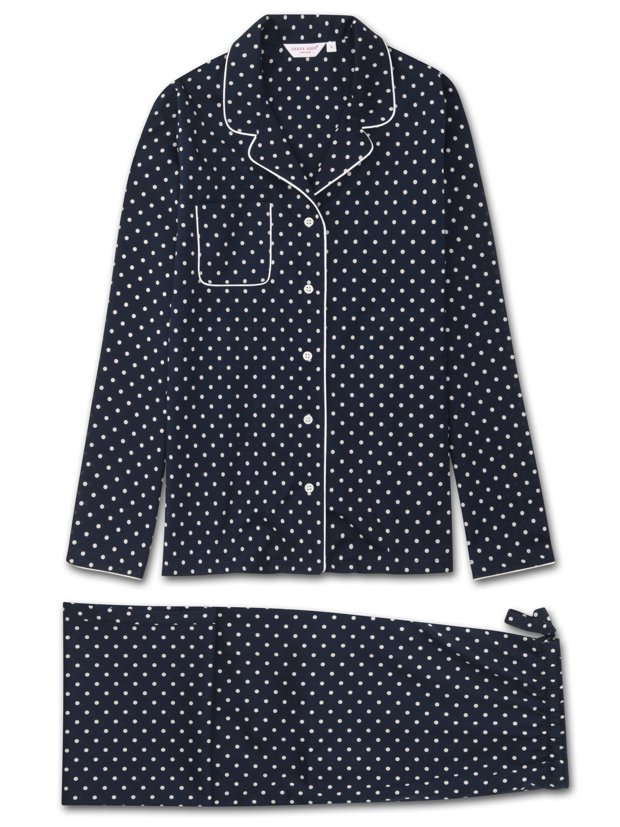 Women's Pyjamas Plaza 60 Cotton Batiste Navy