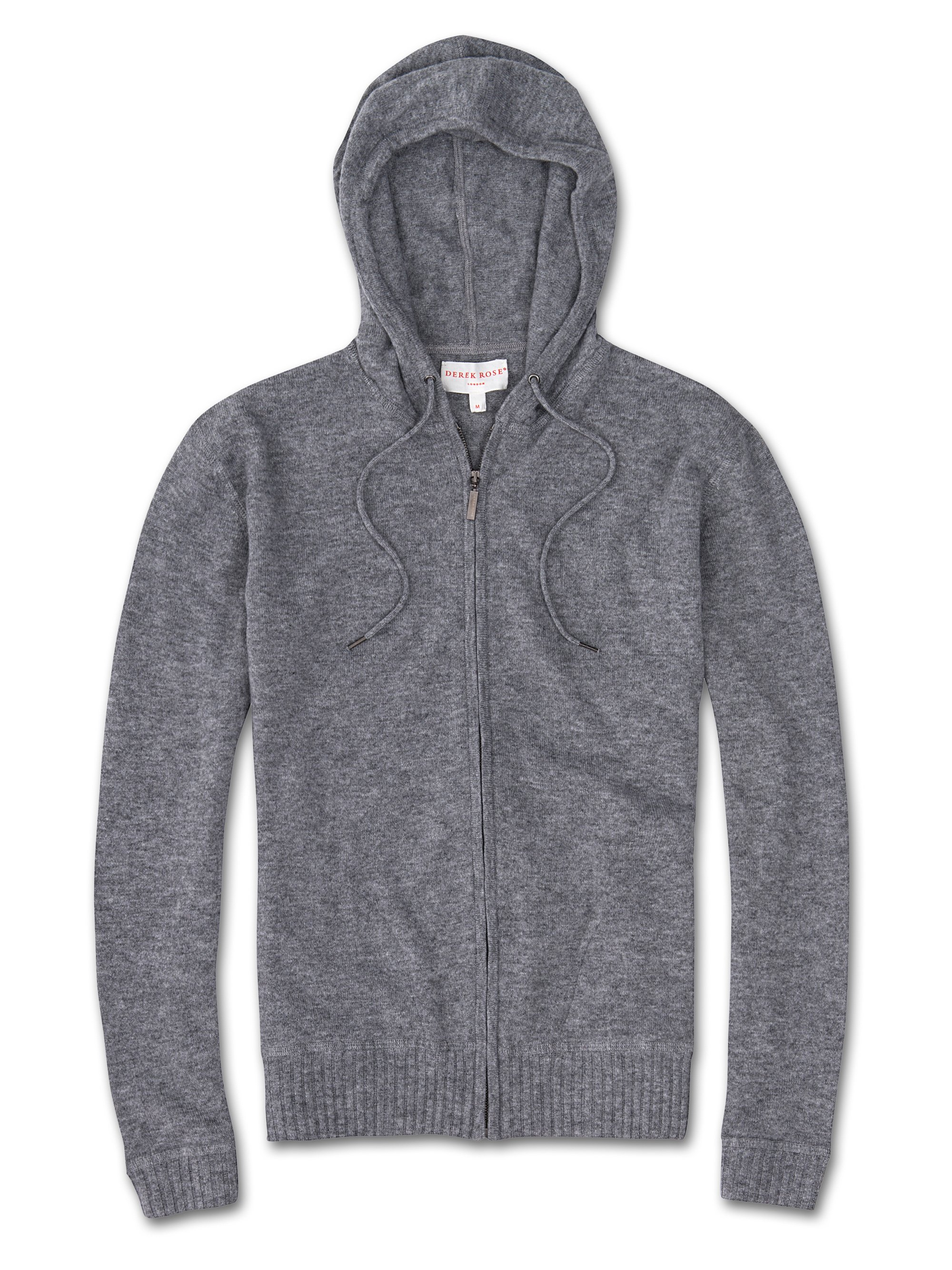 Men's Cashmere Hoodie Finley Pure Cashmere Silver