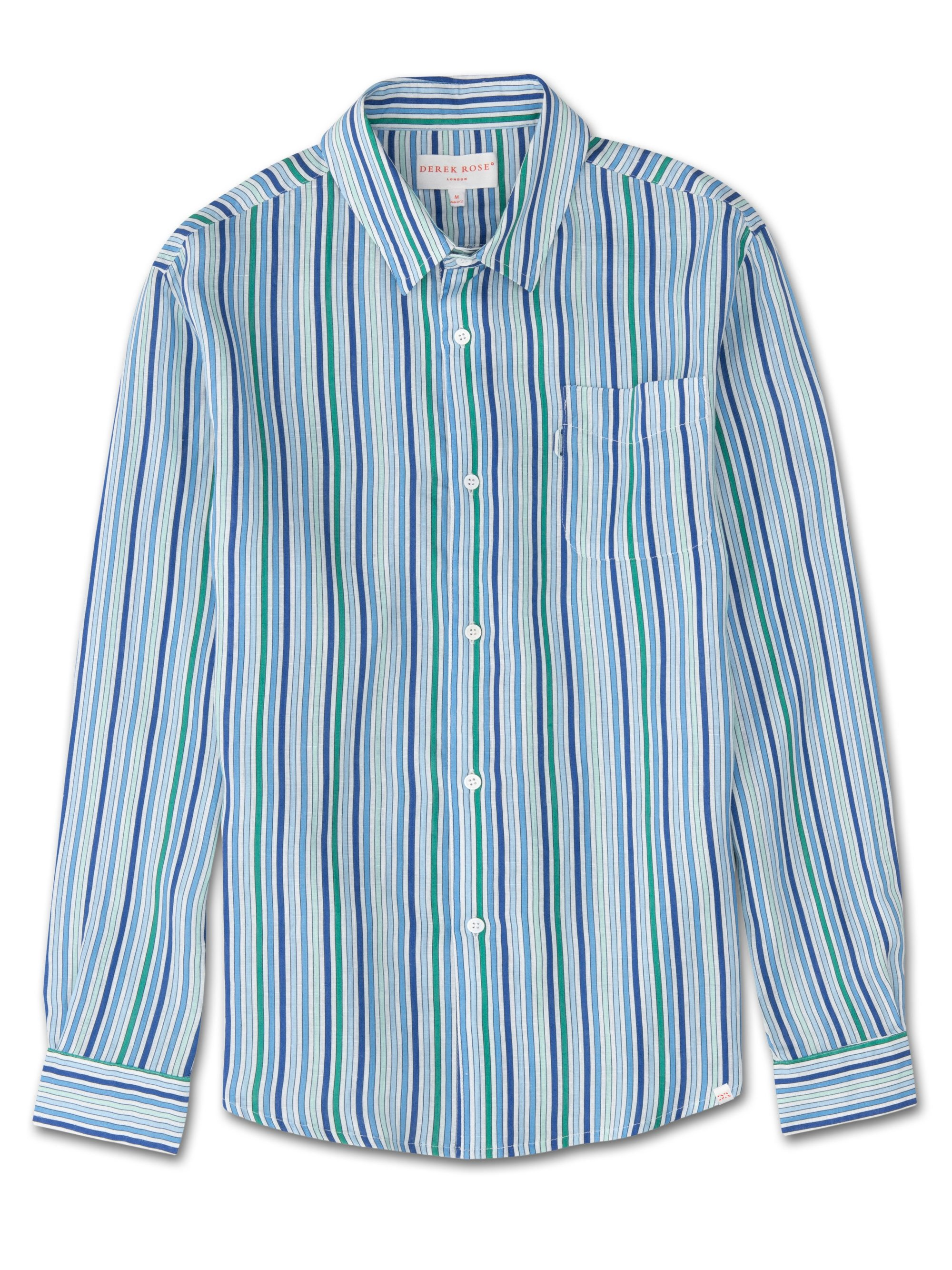 Men's Linen Shirt Milan 5 Linen Green