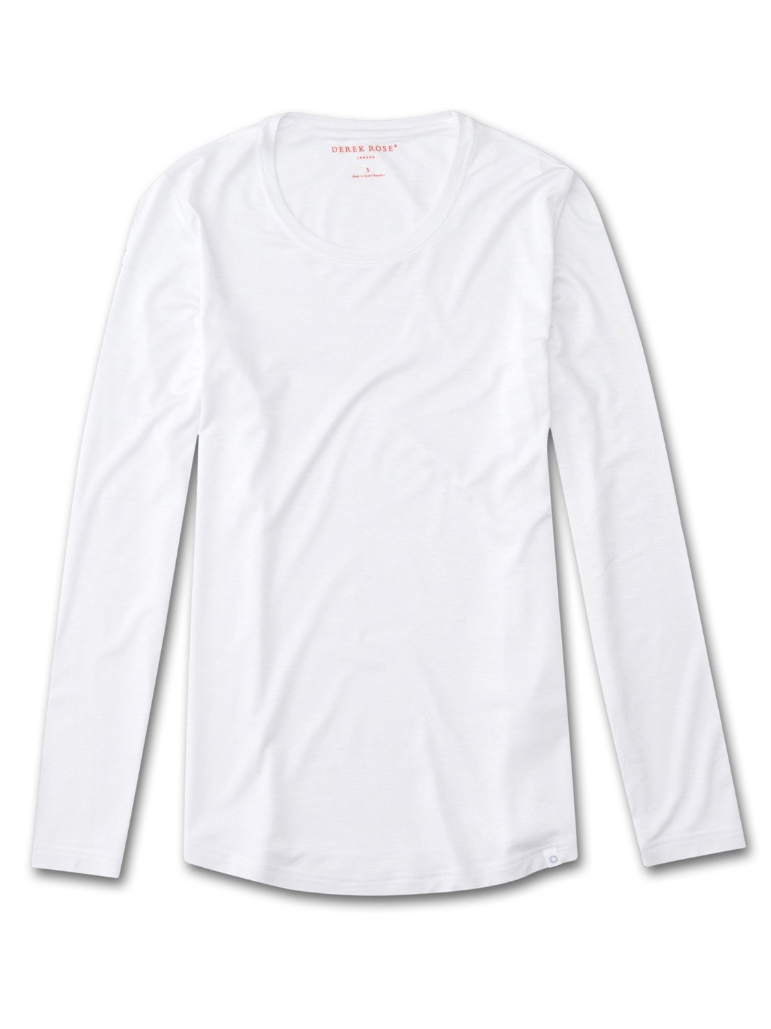 Women's Long Sleeve T-Shirt Carla Micro Modal Stretch White