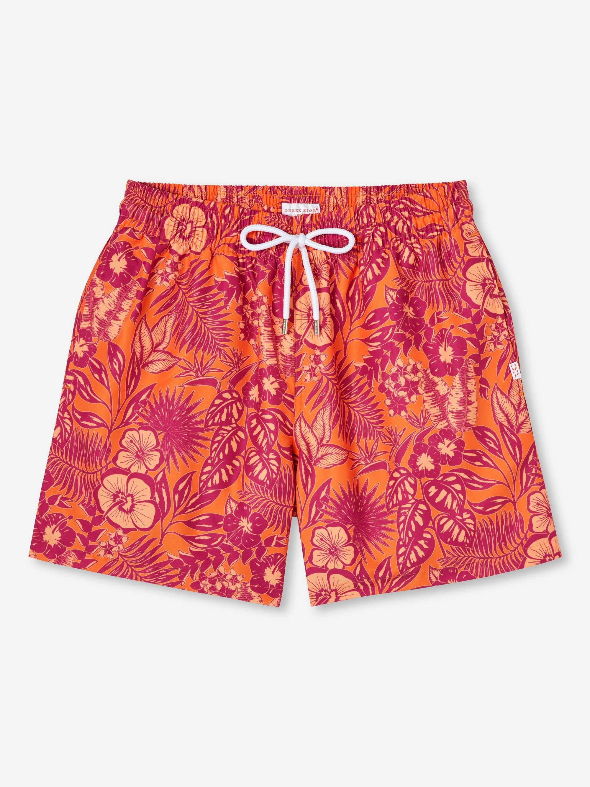 Men's Short Classic Fit Swim Shorts Maui 34 Orange