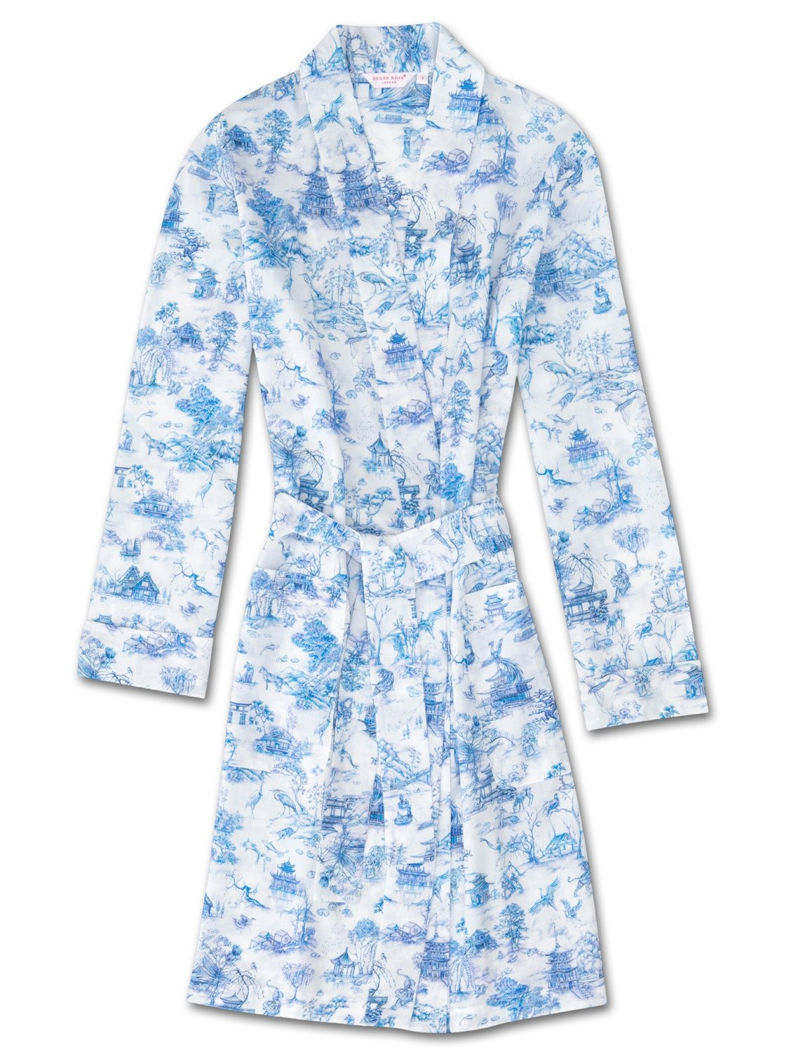 Women's Dressing Gown Ledbury 11 Cotton Batiste Blue