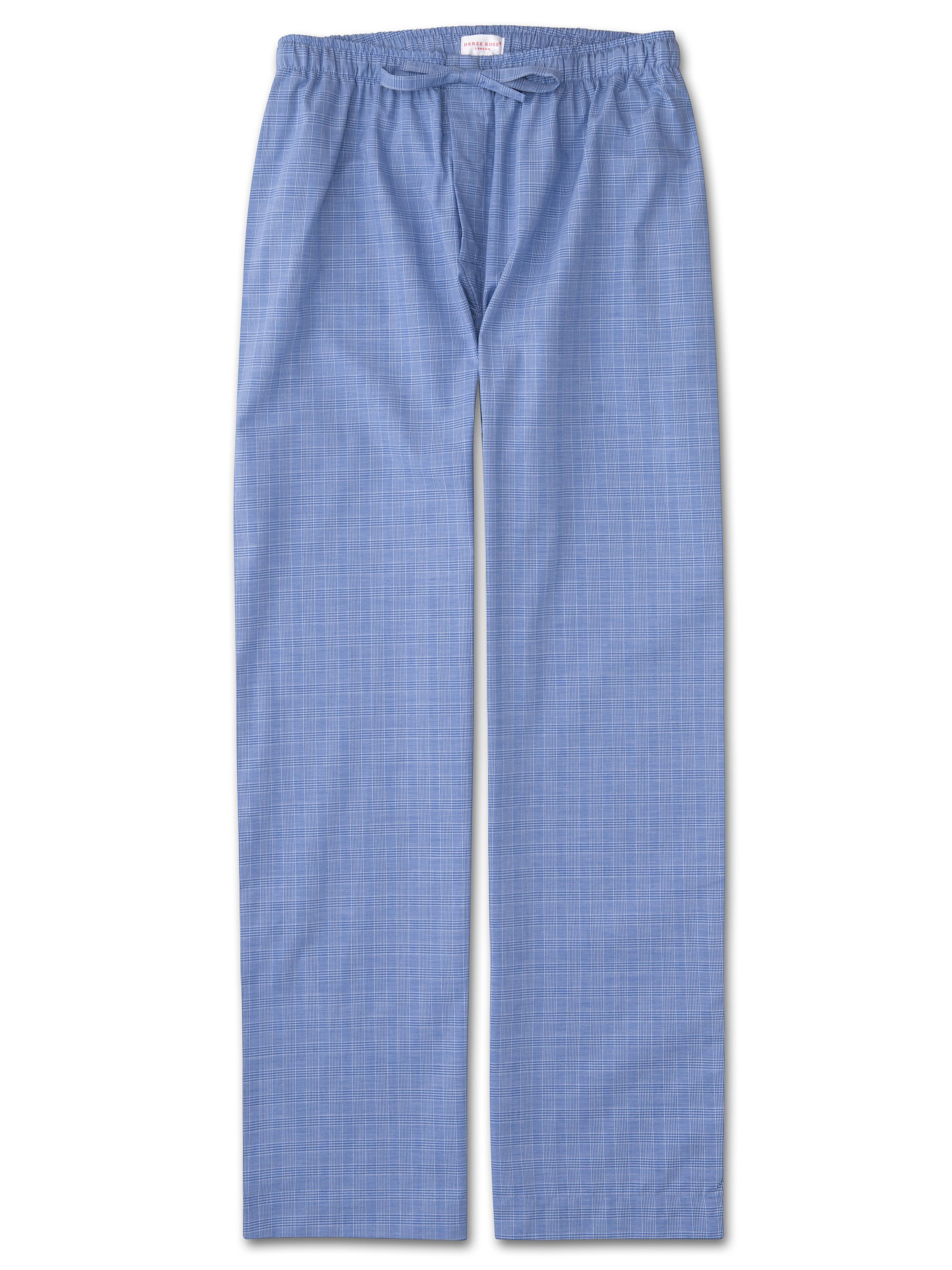 Men's Lounge Trousers Felsted 3 Cotton Check Blue