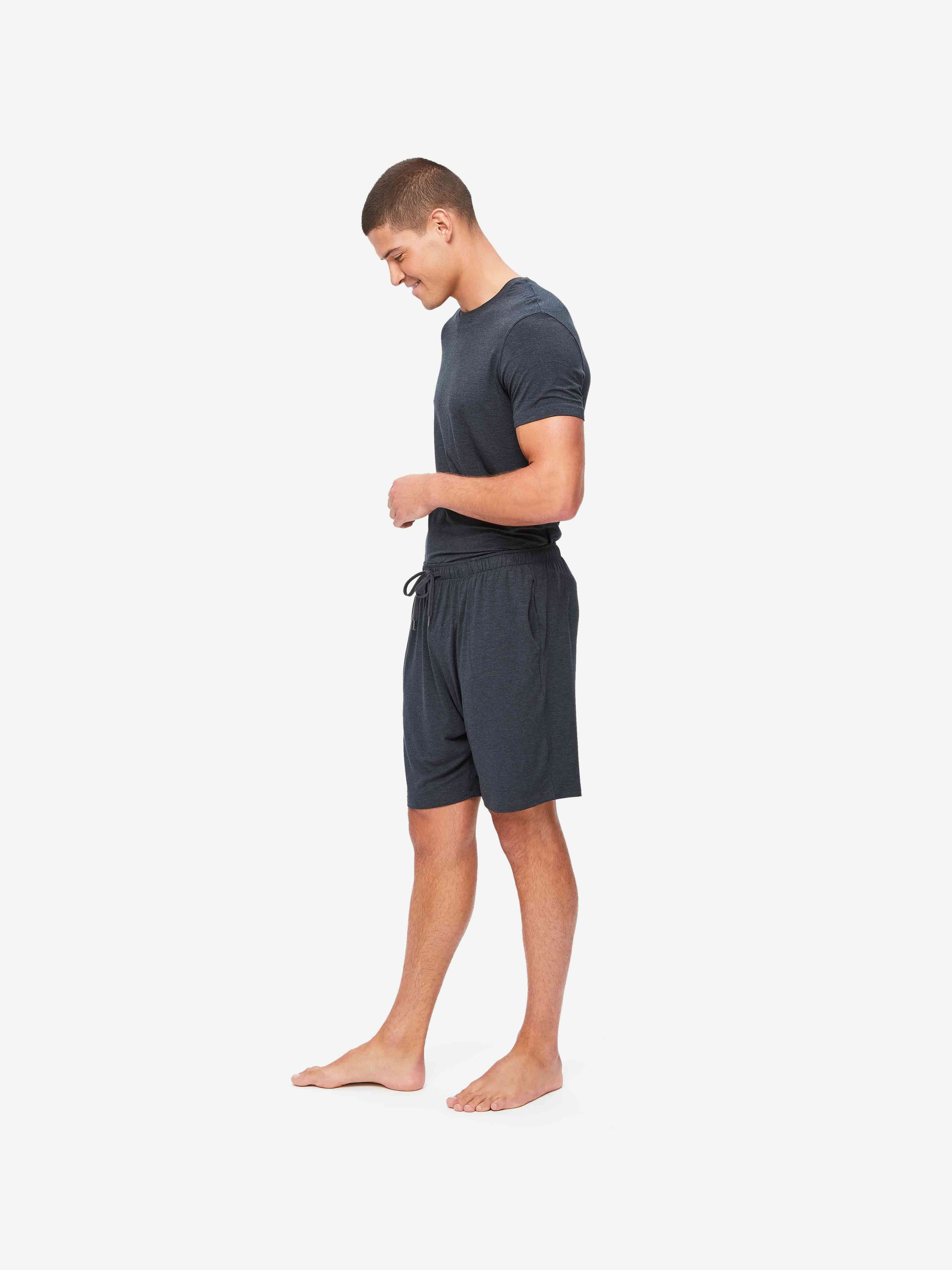 Men's Lounge Shorts Marlowe Micro Modal Stretch Anthracite