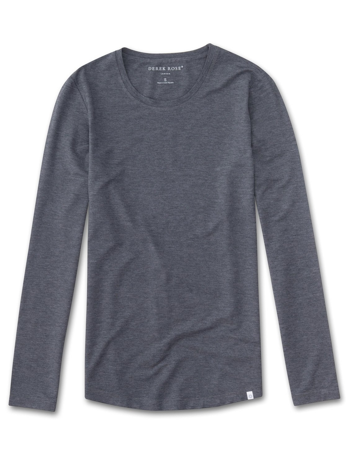 Women's Long Sleeve T-Shirt Ethan 2 Micro Modal Stretch Charcoal
