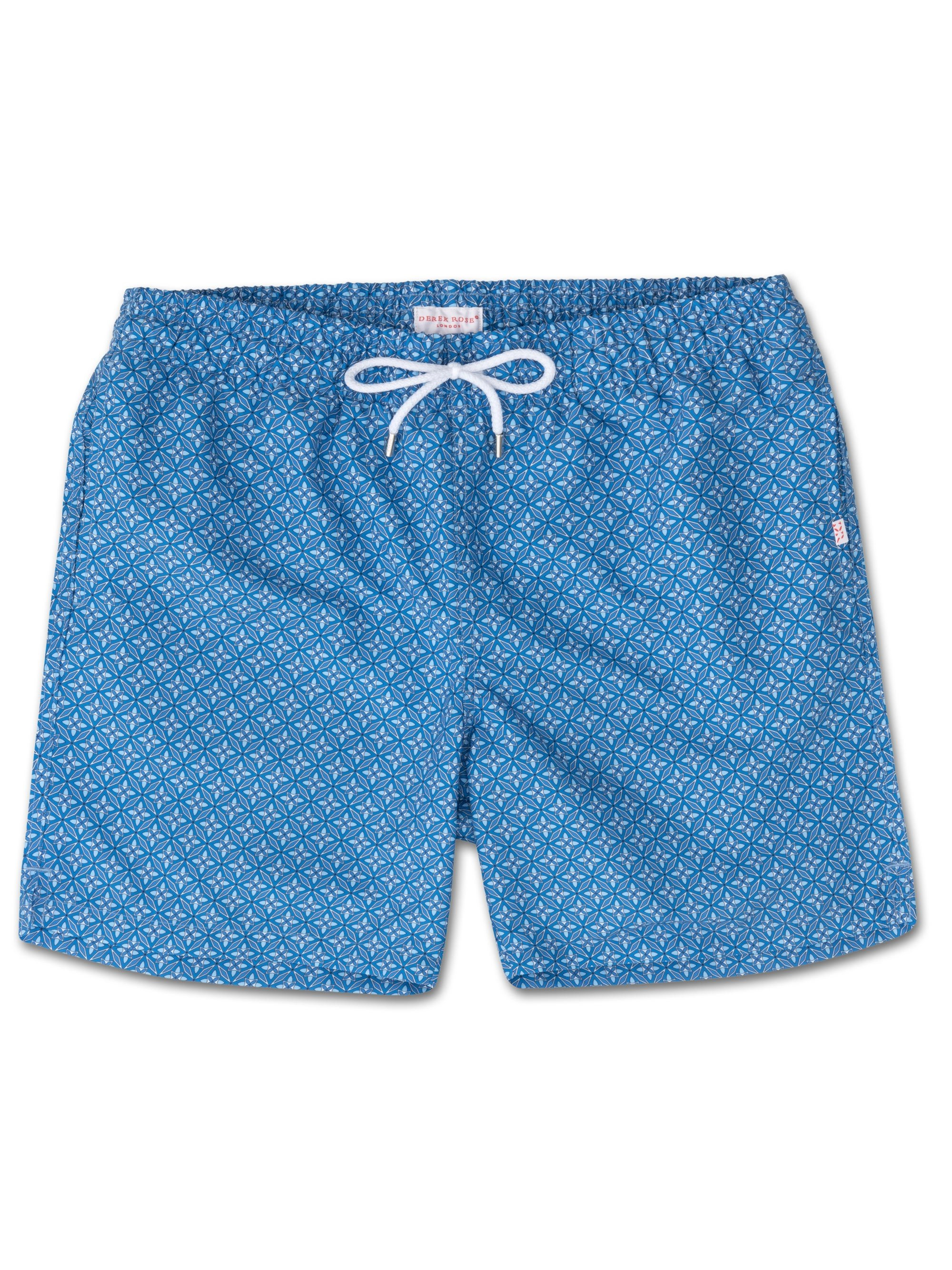 Men's Classic Fit Swim Shorts Tropez 4 Blue